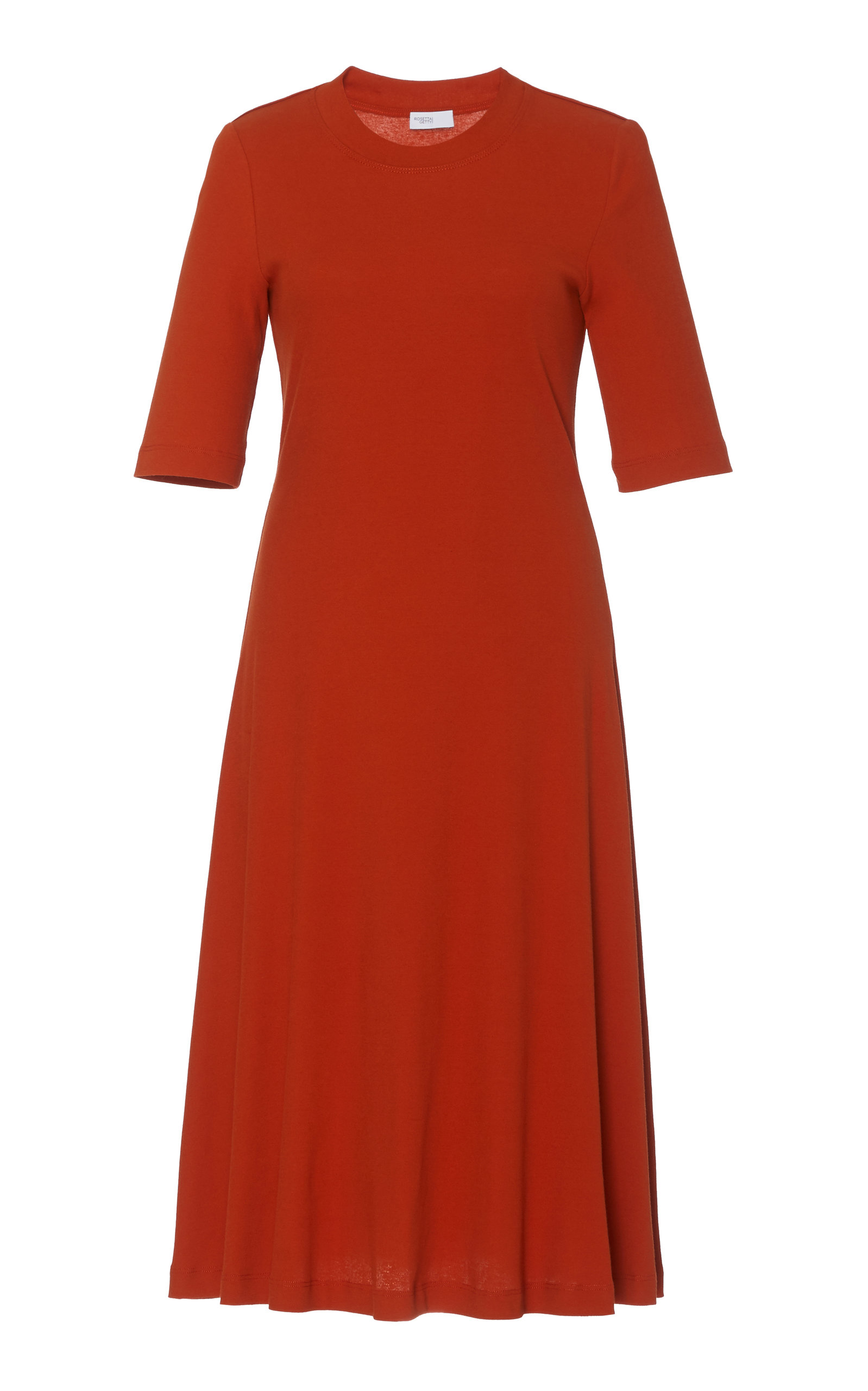 Buy Rosetta Getty Cropped Sleeve T-Shirt Dress online, shop Rosetta Getty at the best price