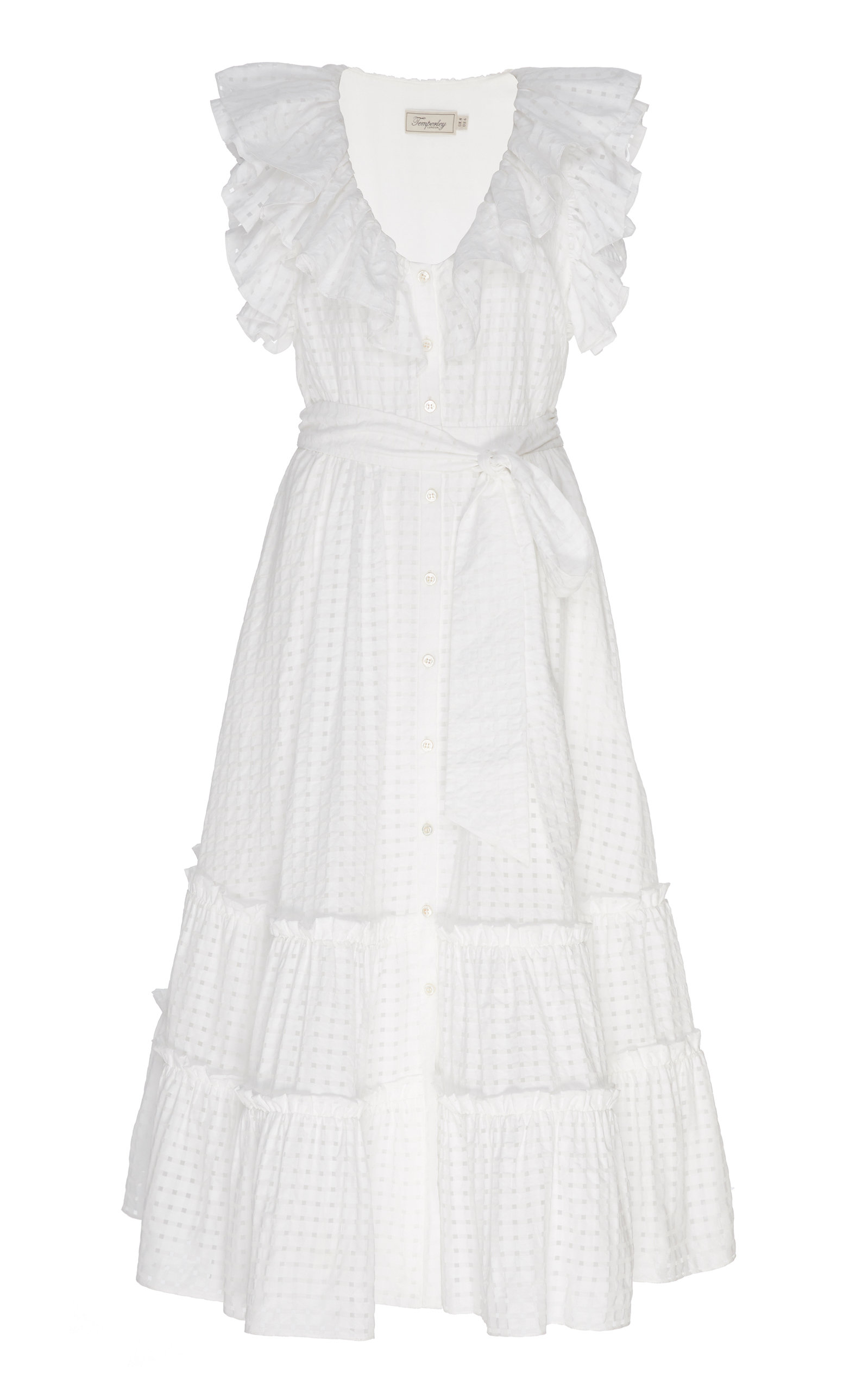 Buy Temperley London Tamara Ruffled Voile Midi Dress online, shop Temperley London at the best price