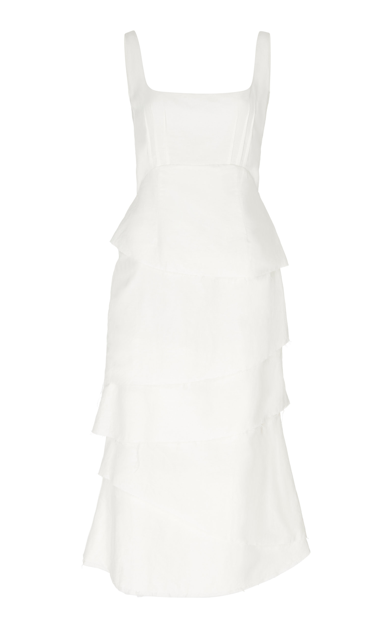 Buy Brock Collection Tiered Cotton-Blend Midi Dress online, shop Brock Collection at the best price