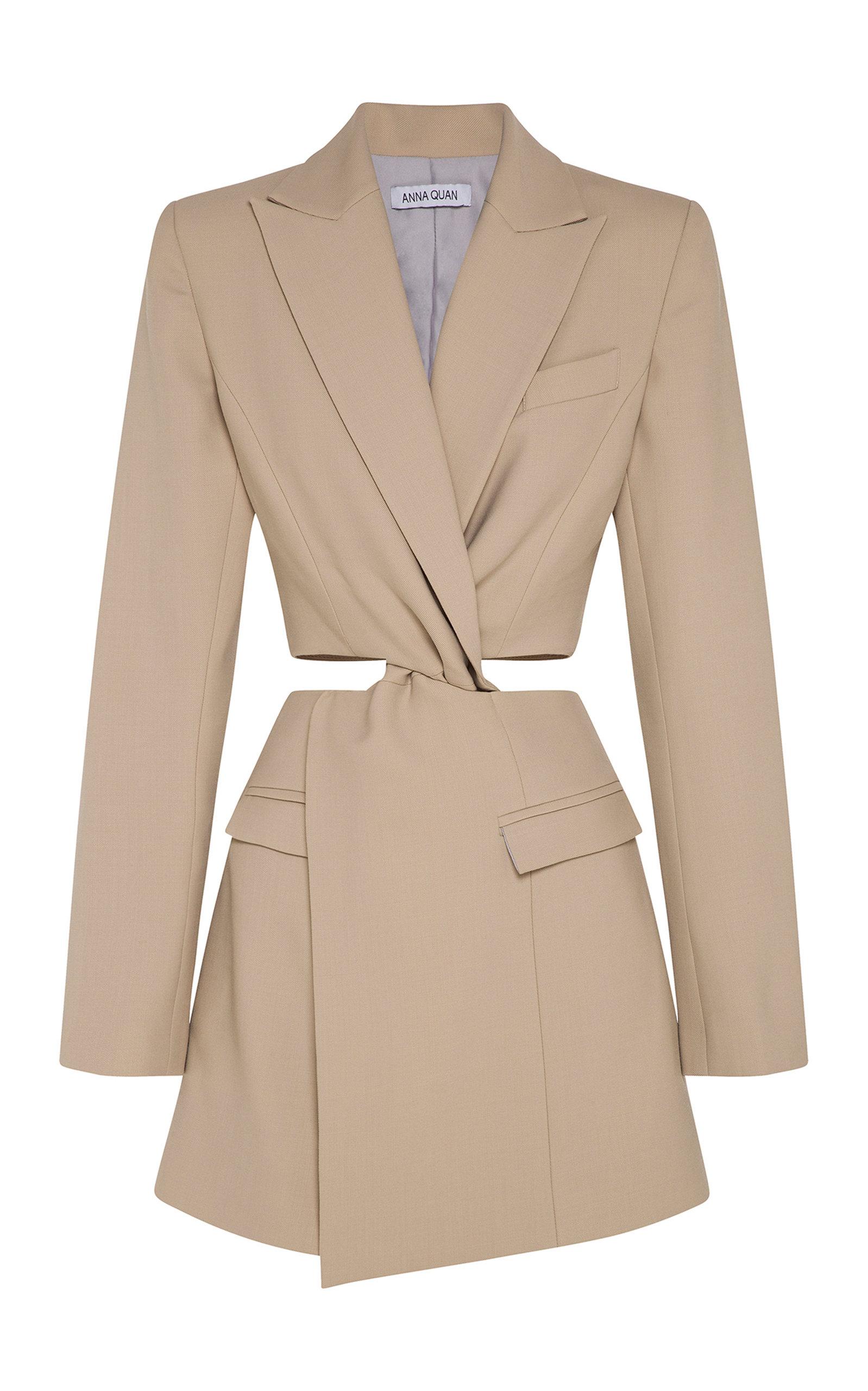Buy Anna Quan Chiara Cutout Wool Mini Dress online, shop Anna Quan at the best price