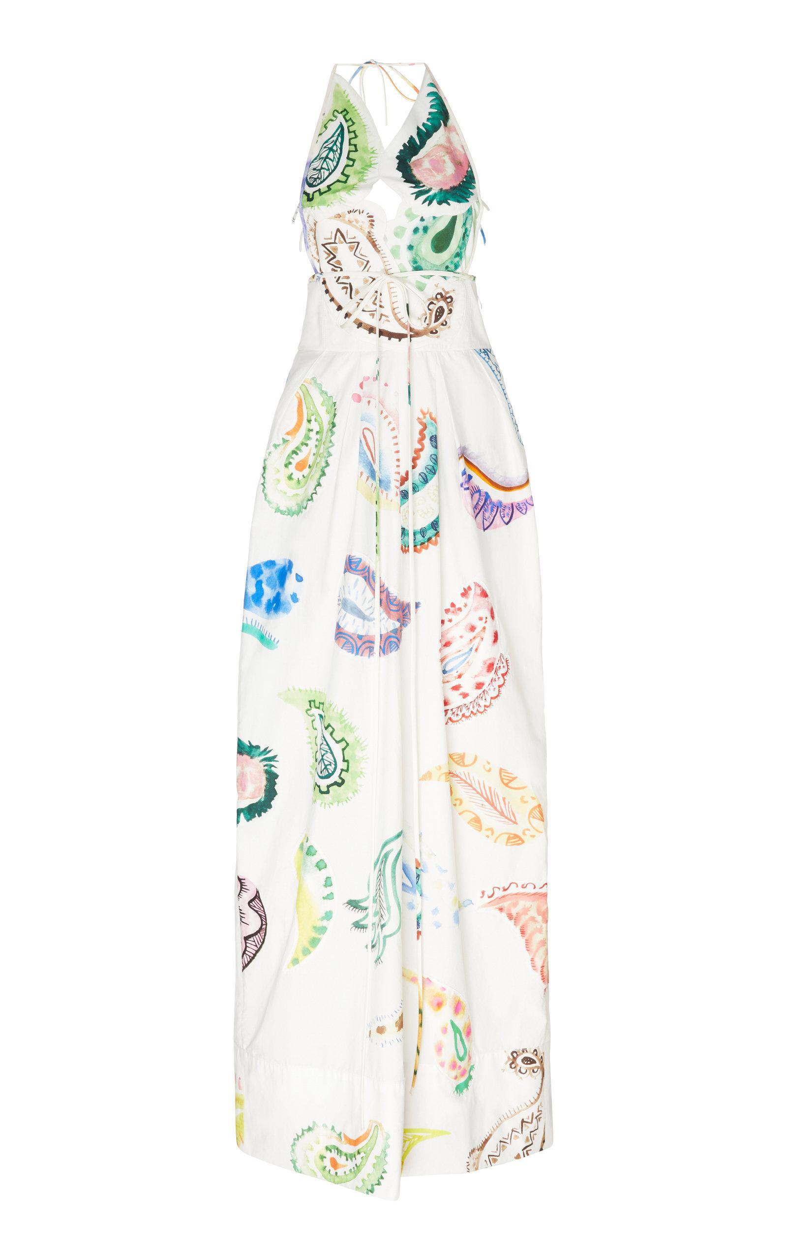 Buy Rosie Assoulin Paisley-Print Cotton-Poplin Halterneck Maxi Dress online, shop Rosie Assoulin at the best price