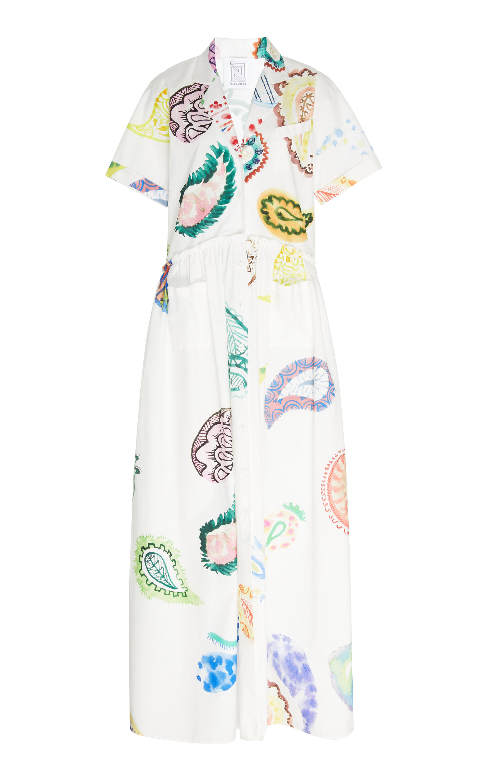 Buy Rosie Assoulin Paisley-Print Pleated Cotton Dress online, shop Rosie Assoulin at the best price
