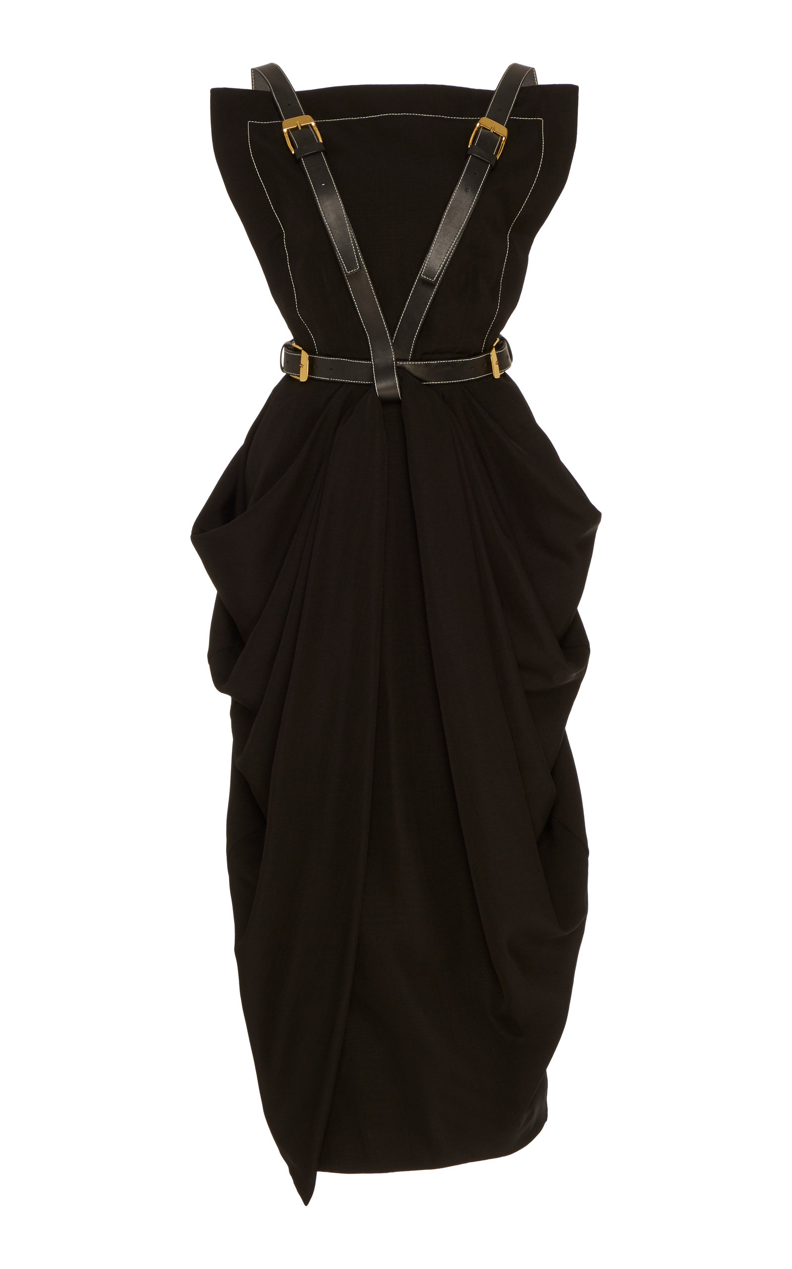 Buy Proenza Schouler Buckle-Detailed Midi Apron Dress online, shop Proenza Schouler at the best price