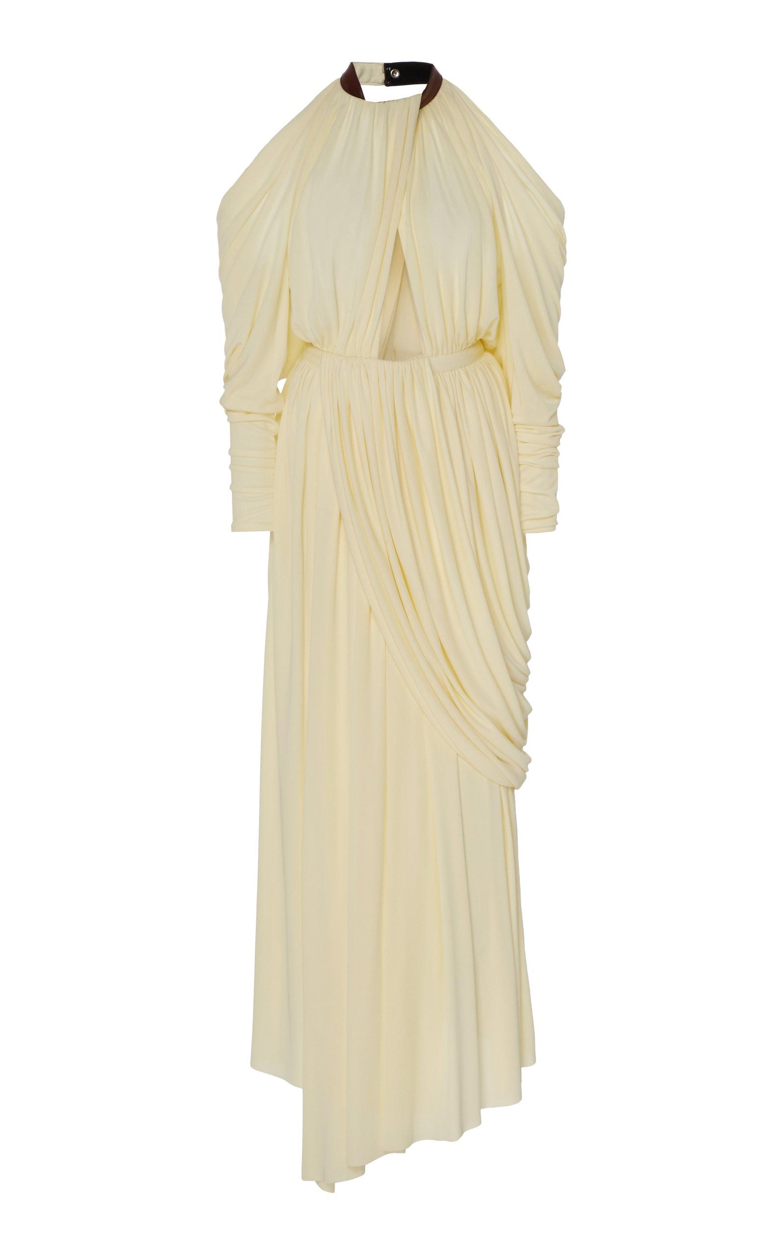 Buy Proenza Schouler Cold-Shoulder Draped Jersey Maxi Dress online, shop Proenza Schouler at the best price
