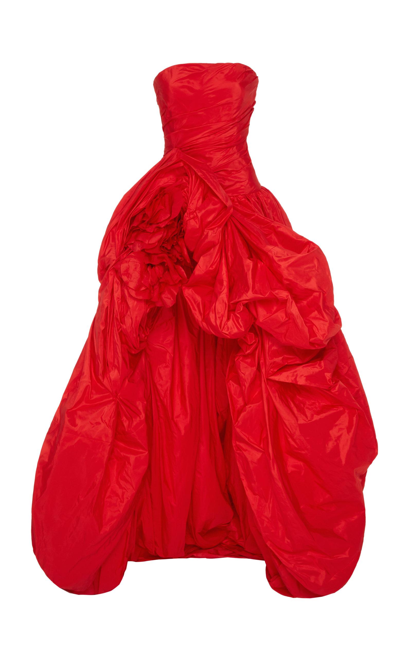 Buy Oscar de la Renta Strapless Silk-Taffeta Gown online, shop Oscar de la Renta at the best price