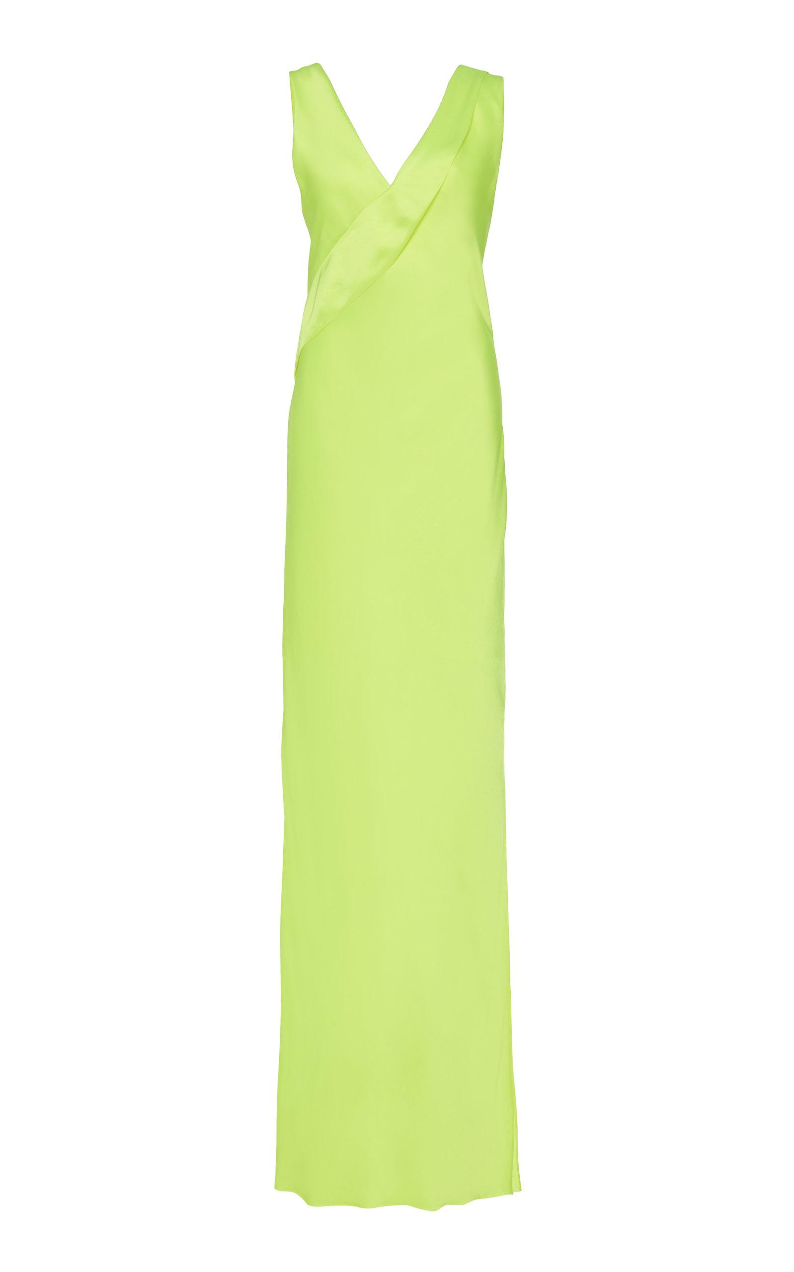 Buy Helmut Lang Sash-Detailed Duchess Satin Dress online, shop Helmut Lang at the best price