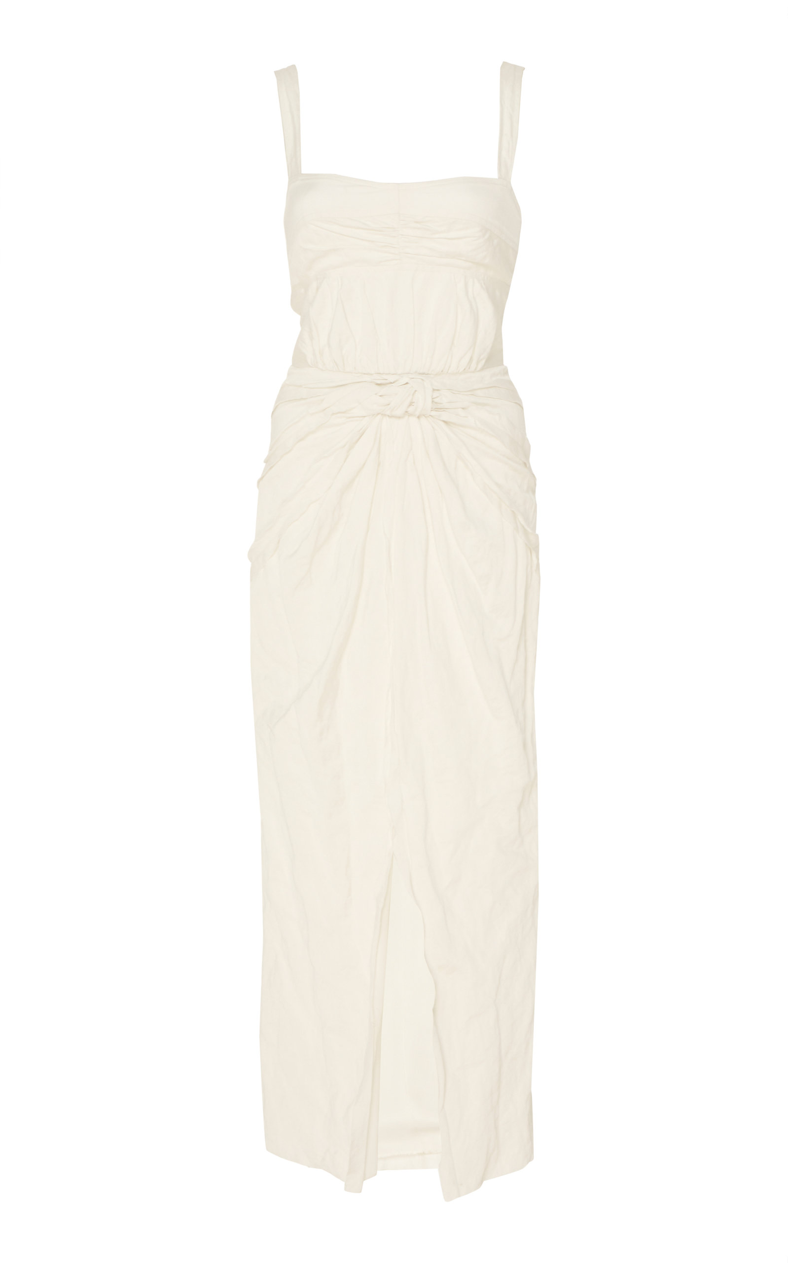 Buy Jason Wu Collection Ruched Washed Sateen Midi Dress online, shop Jason Wu Collection at the best price