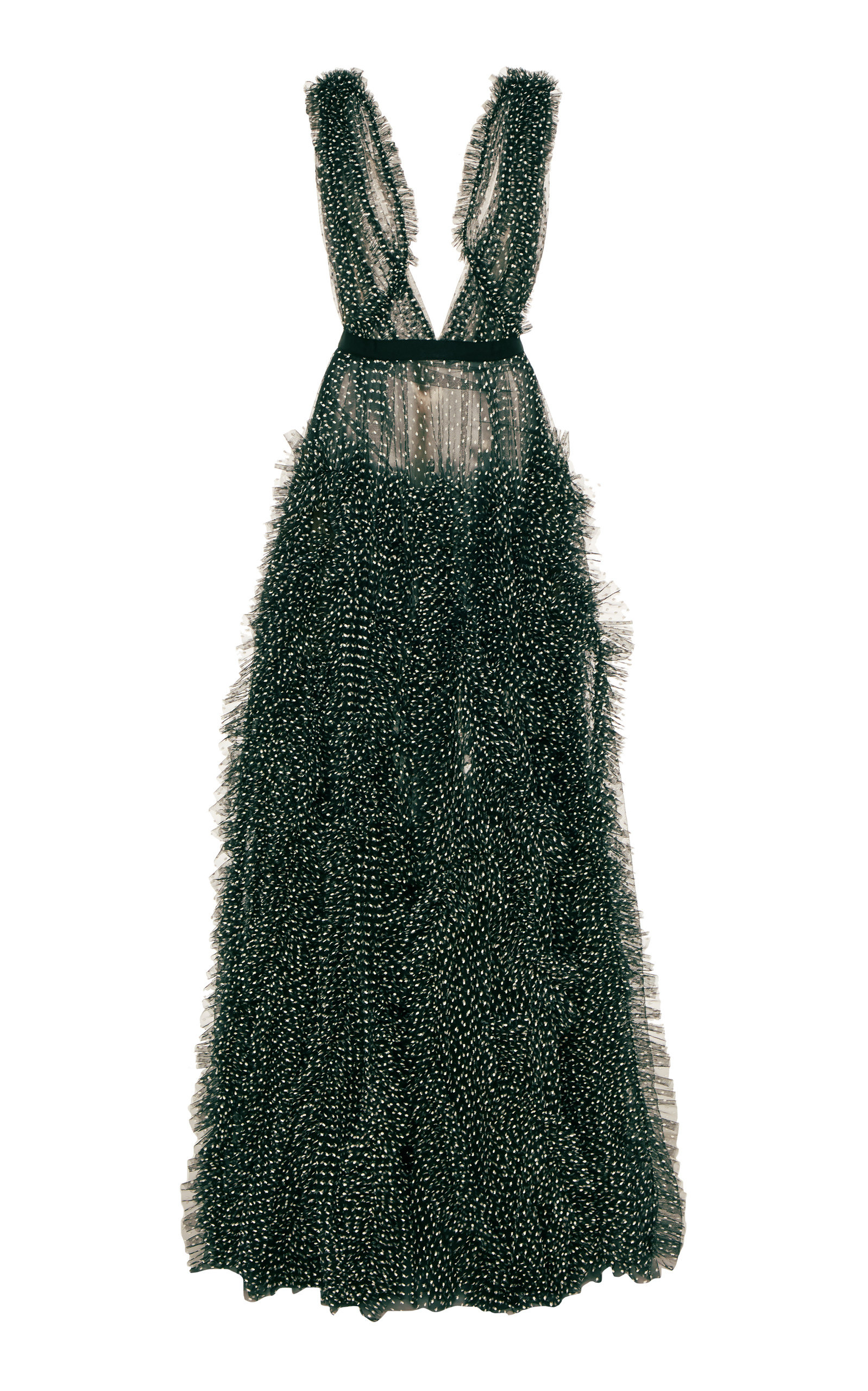 Buy Jason Wu Collection Sleeveless V-Neck Dot Tulle Gown online, shop Jason Wu Collection at the best price