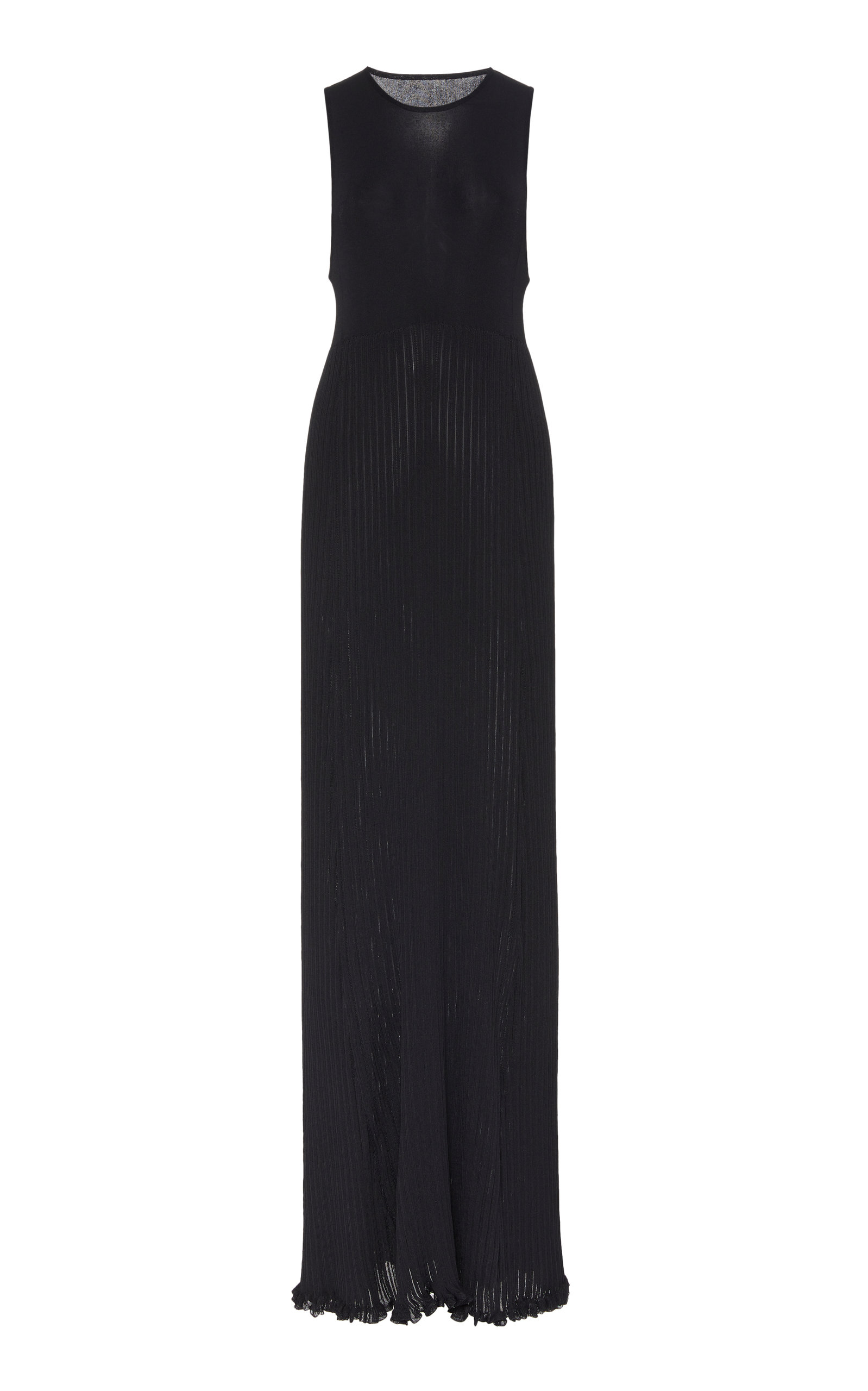 Buy Marina Moscone Sleeveless Plissé Maxi Dress online, shop Marina Moscone at the best price