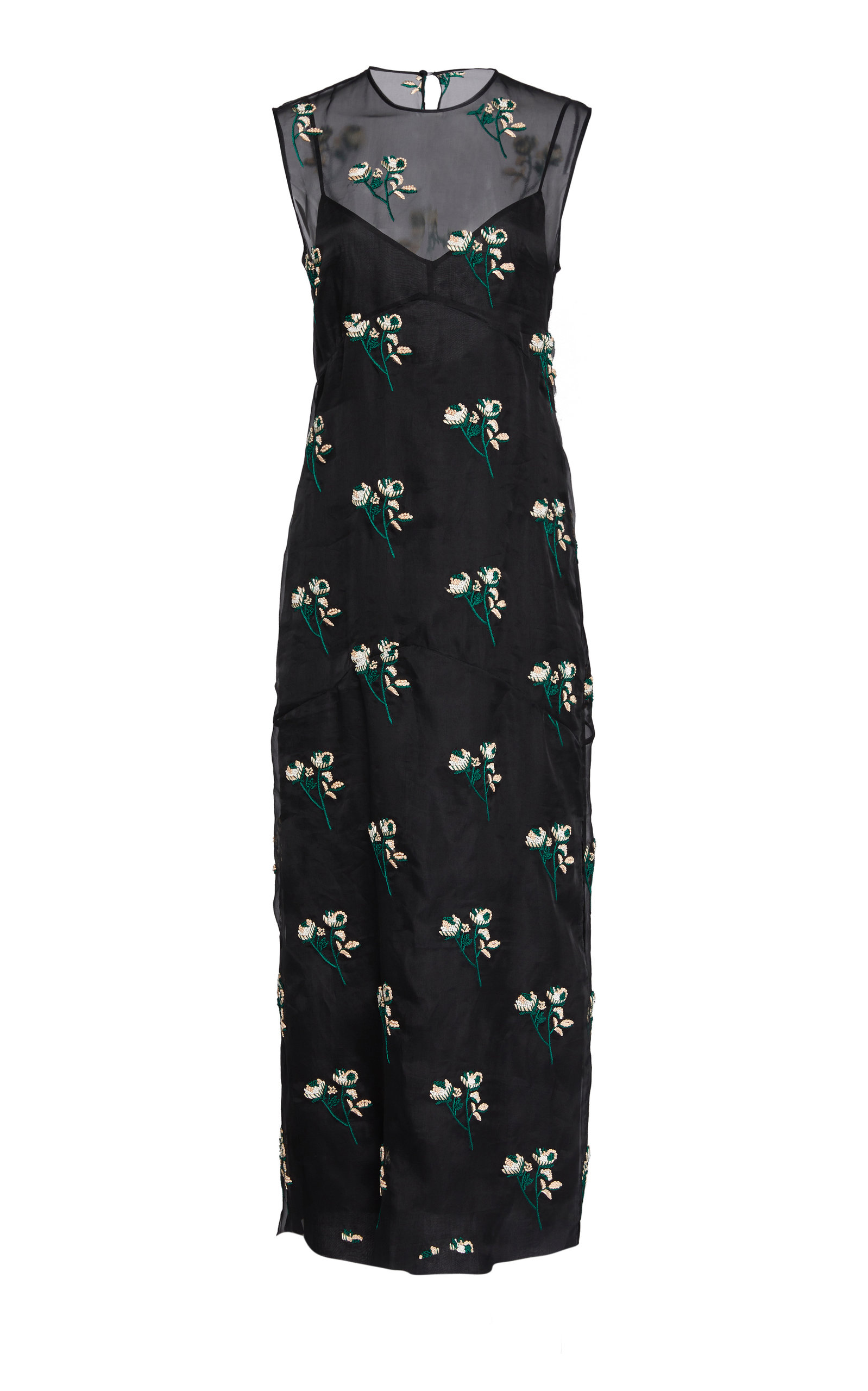Buy Marina Moscone Floral-Print Silk-Blend Dress online, shop Marina Moscone at the best price