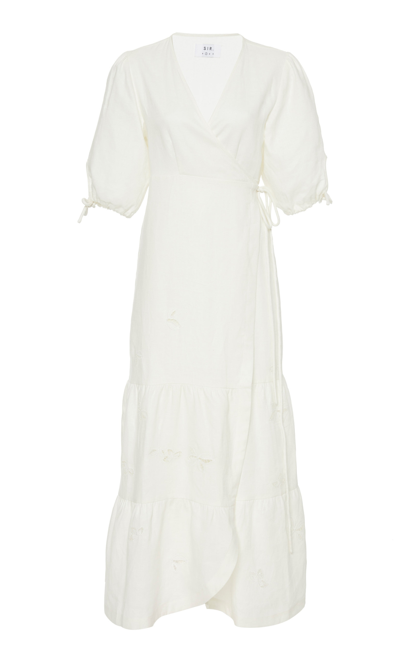 Buy Sir The Label Alena Linen Wrap Maxi Dress online, shop Sir The Label at the best price
