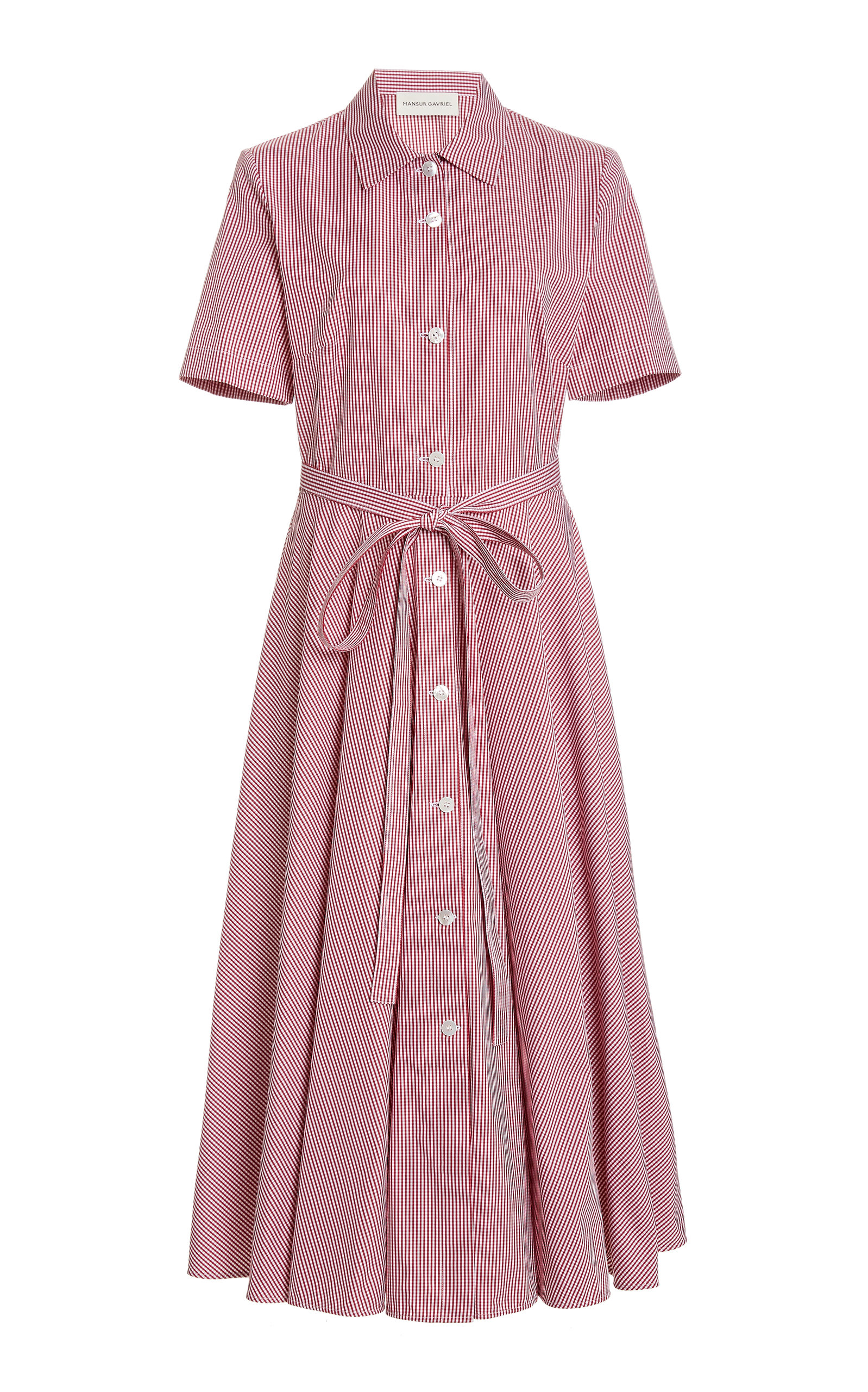 Buy Mansur Gavriel Gingham Cotton Shirt Dress online, shop Mansur Gavriel at the best price