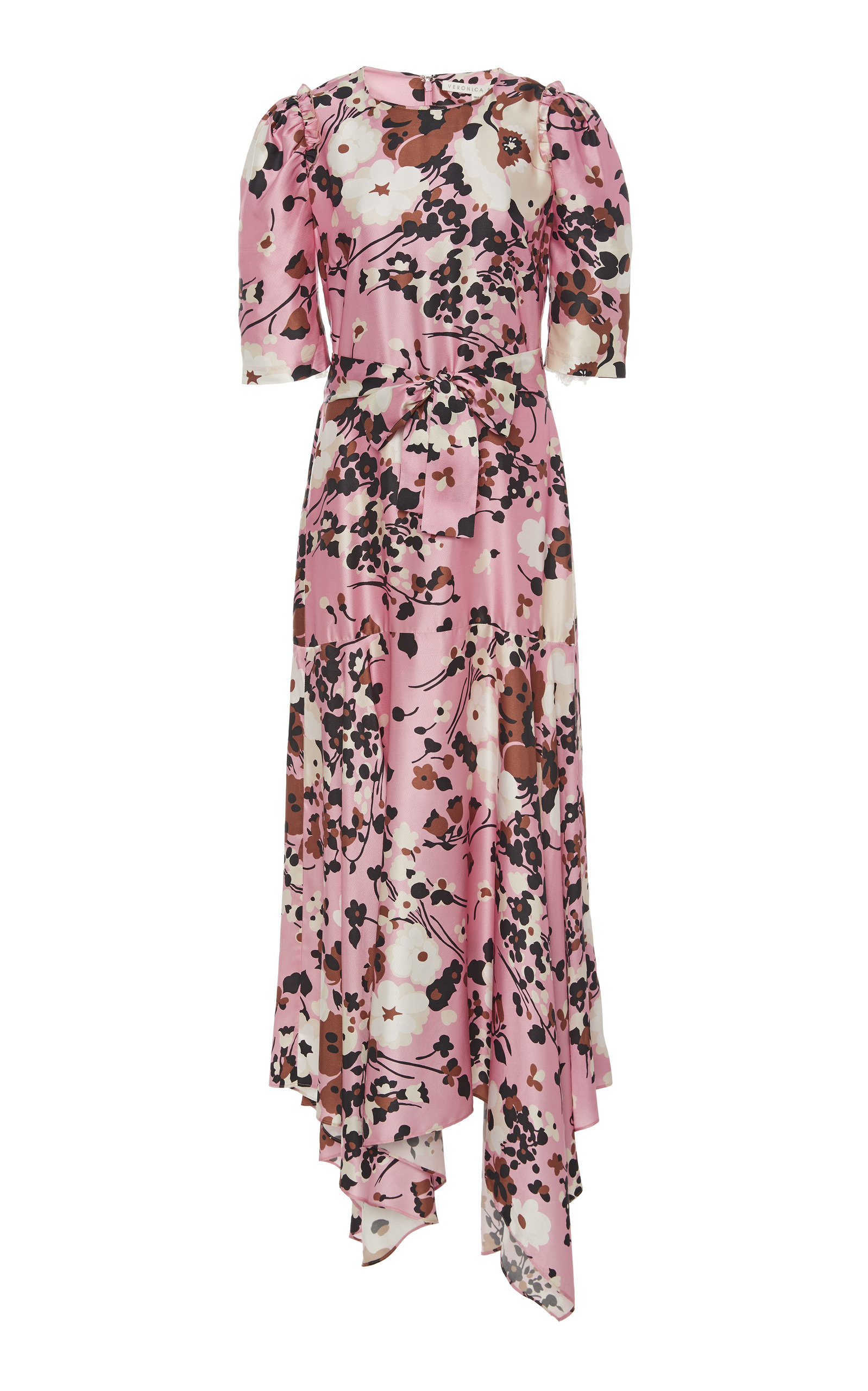 Buy Veronica Beard Connie Floral-Printed Silk-Blend Dress online, shop Veronica Beard at the best price