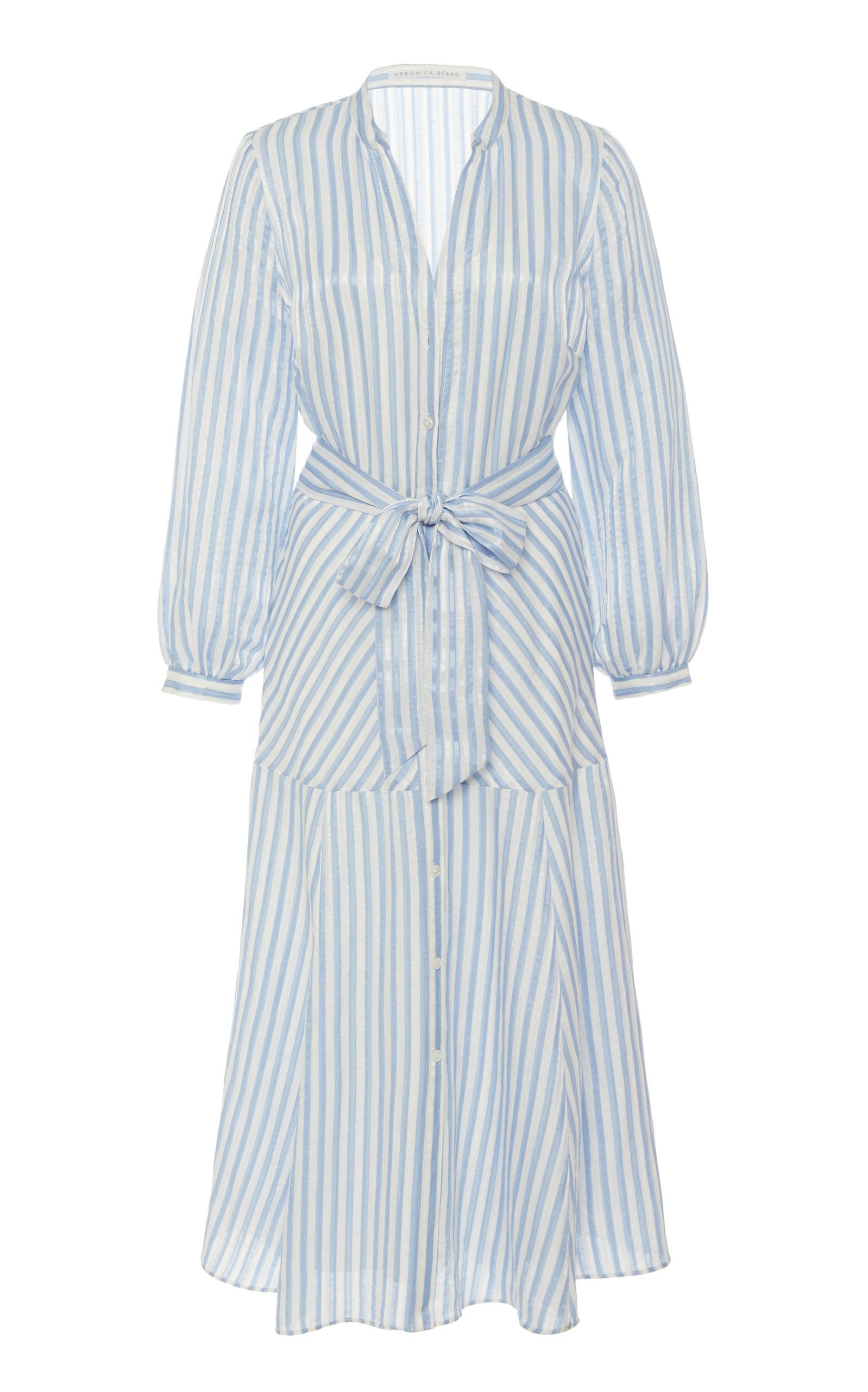 Buy Veronica Beard Jenna Striped Wrap Dress online, shop Veronica Beard at the best price