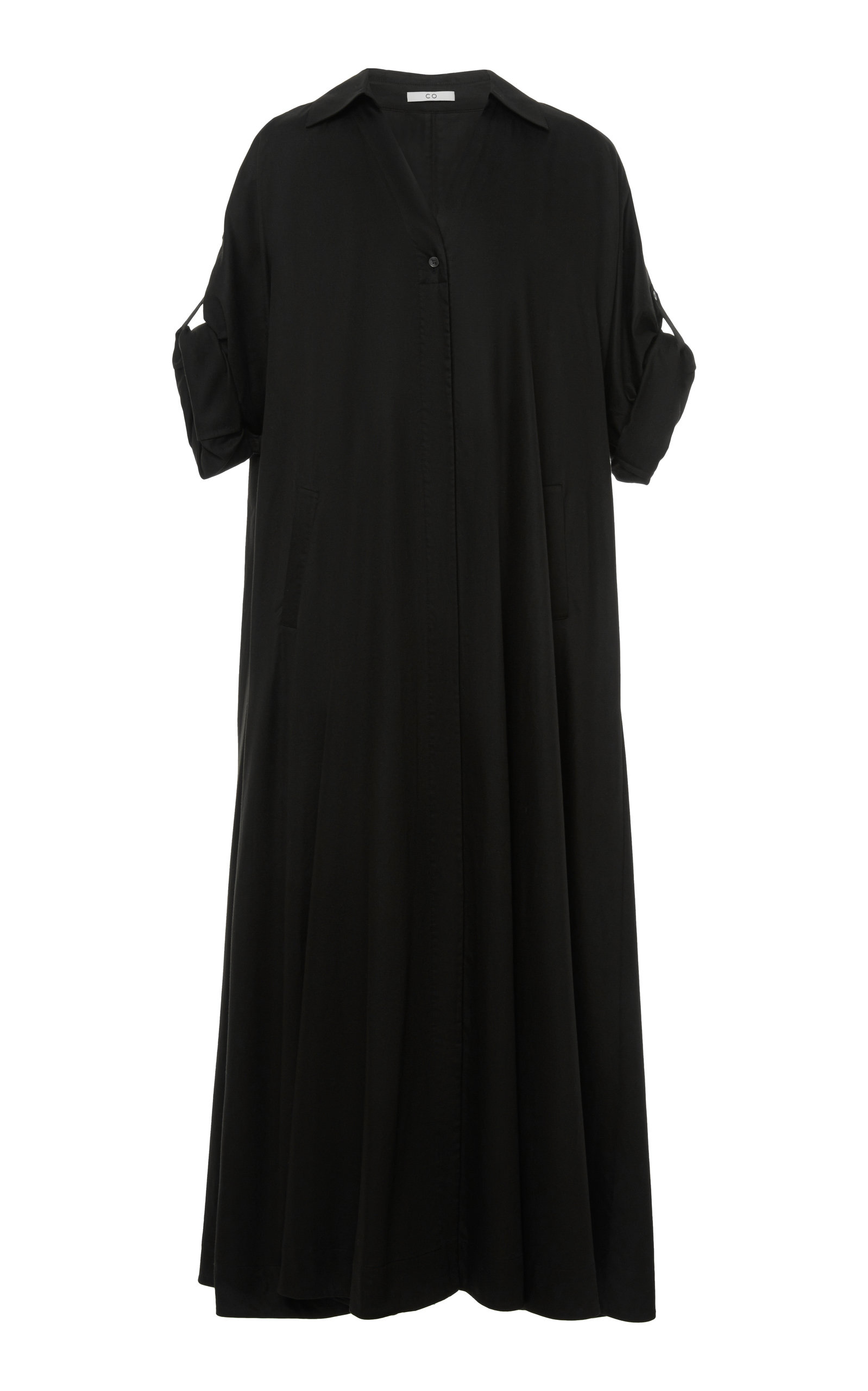 Buy Co Pleated Cotton Shirt Dress online, shop Co at the best price