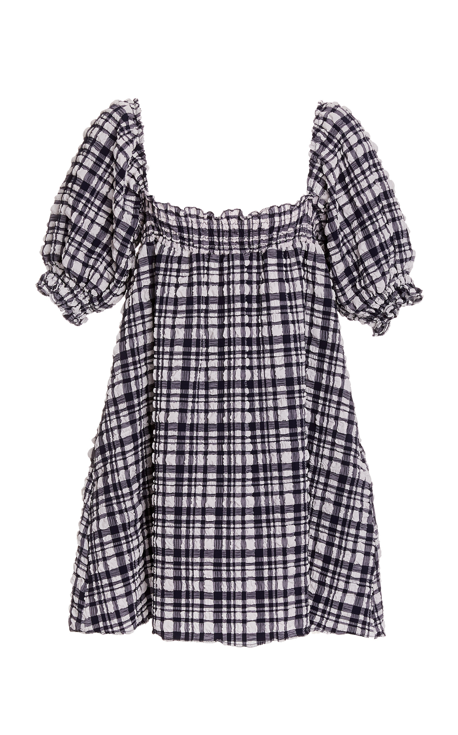 Buy Solid & Striped Gingham Seersucker Babydoll Dress online, shop Solid & Striped at the best price