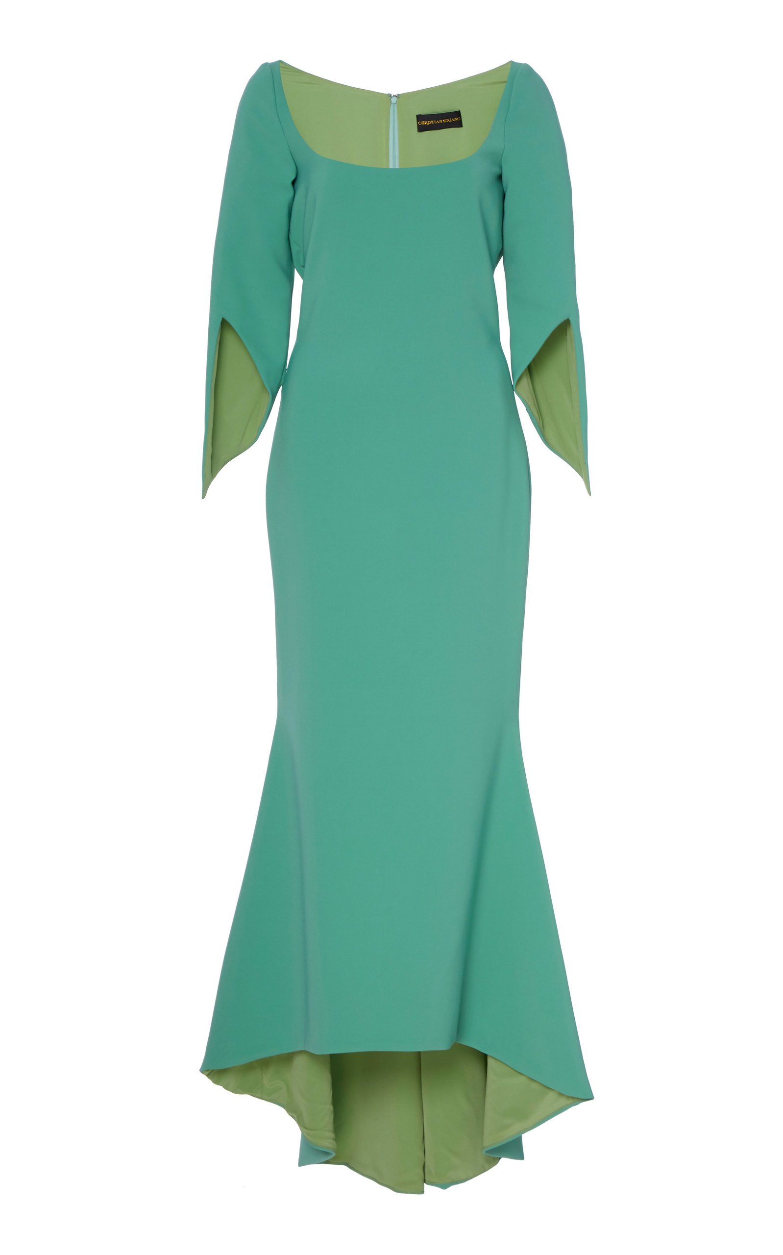 Buy Christian Siriano Split-Sleeve Jersey Dress online, shop Christian Siriano at the best price