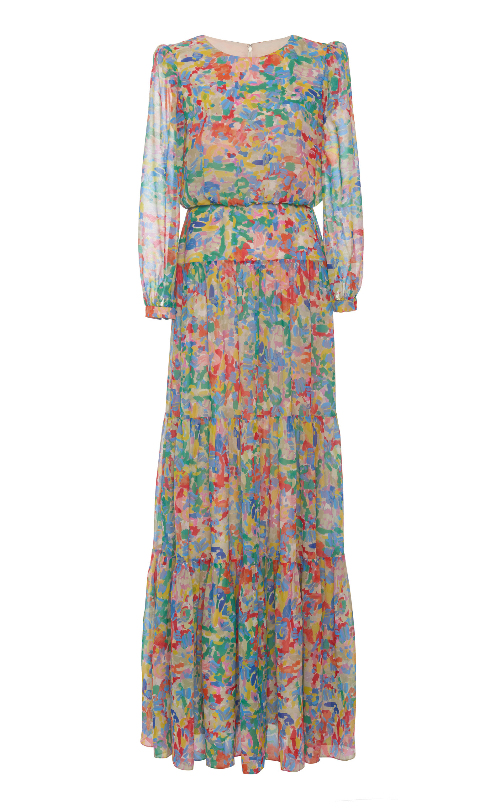 Buy Saloni Isabel Printed Silk-Chiffon Maxi Dress online, shop Saloni at the best price