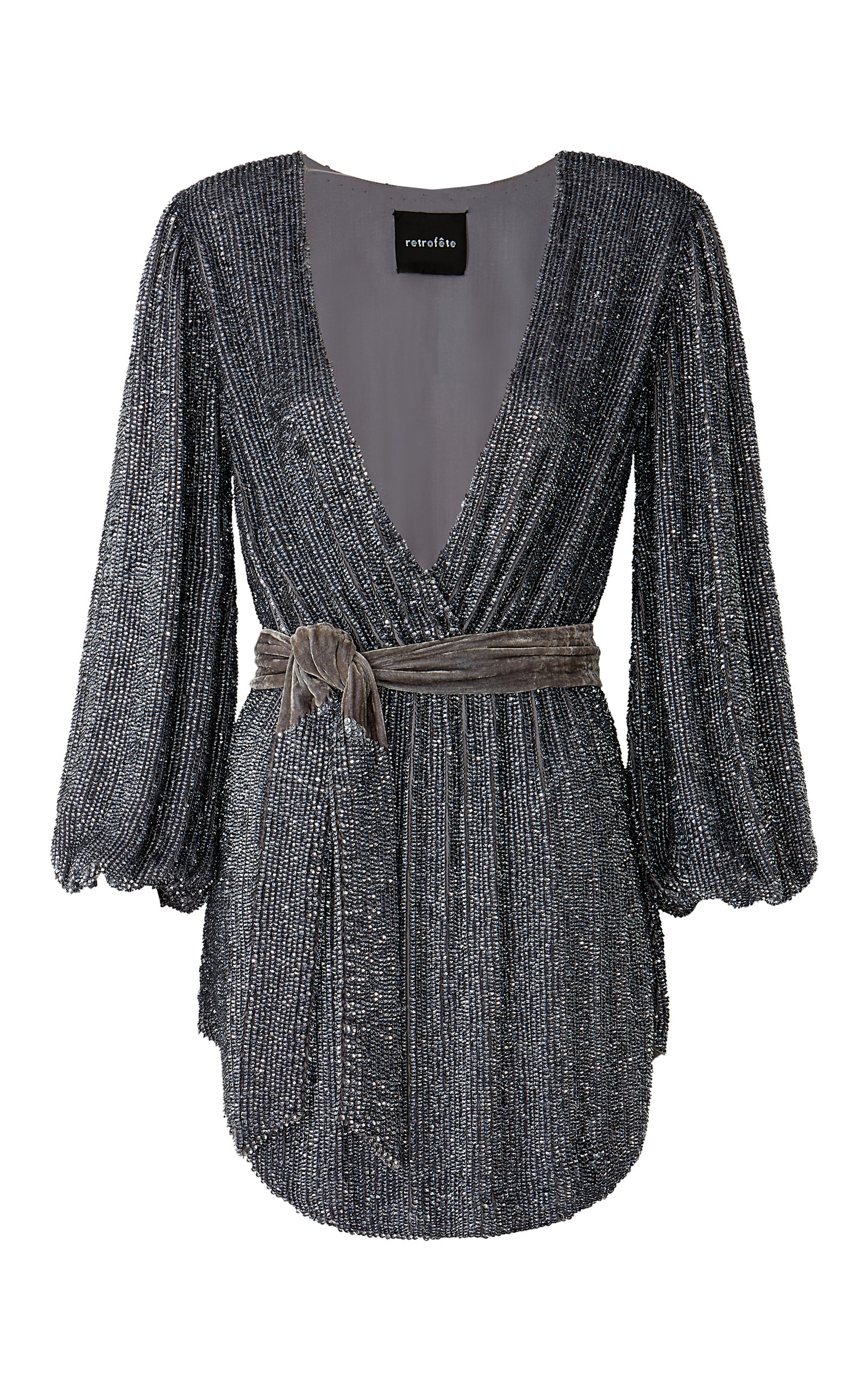 Buy Retrofête Julie Sequined Chiffon Mini Dress online, shop Retrofête at the best price