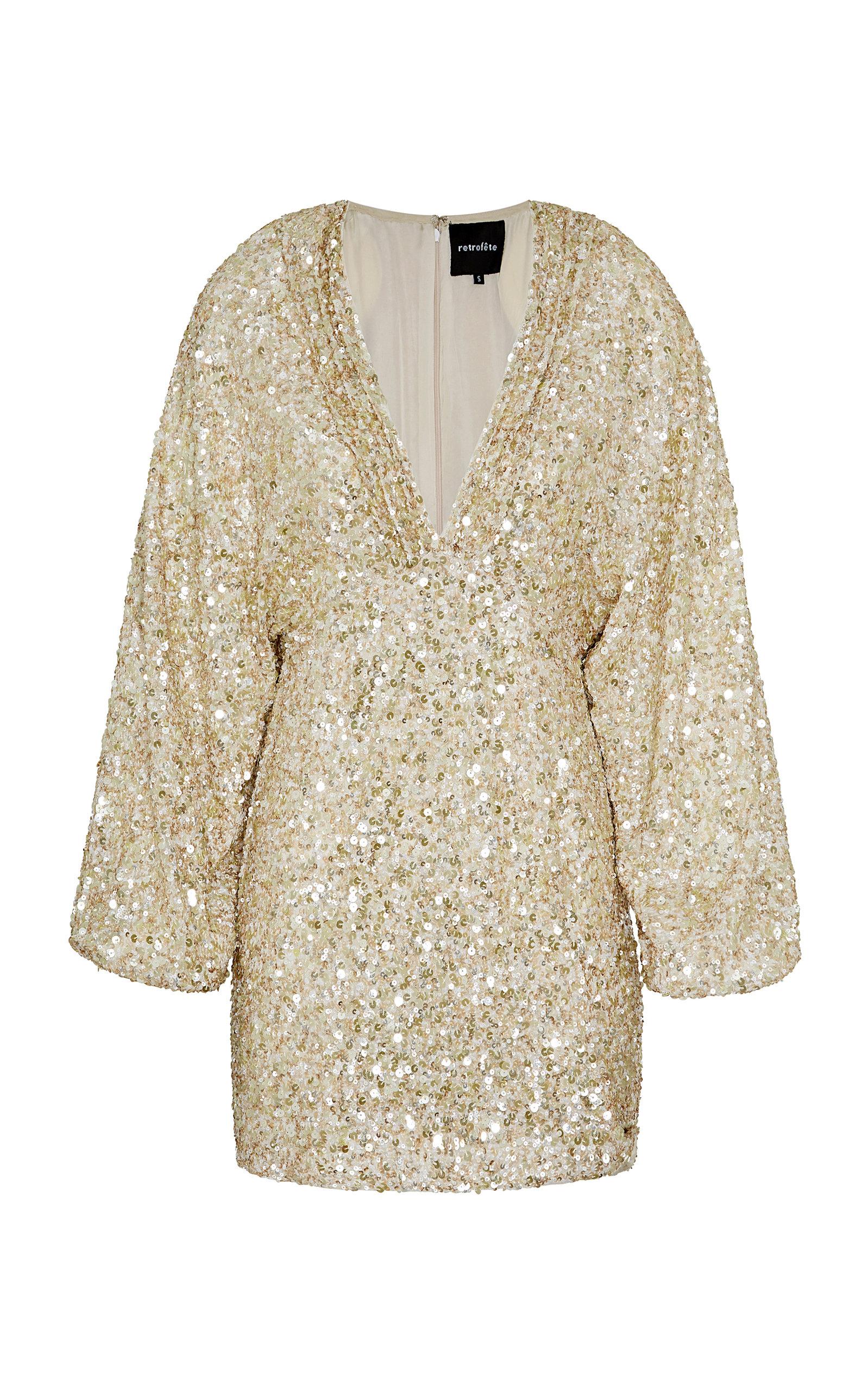 Buy Retrofête Aubrielle Sequin-Embellished Mini Dress online, shop Retrofête at the best price