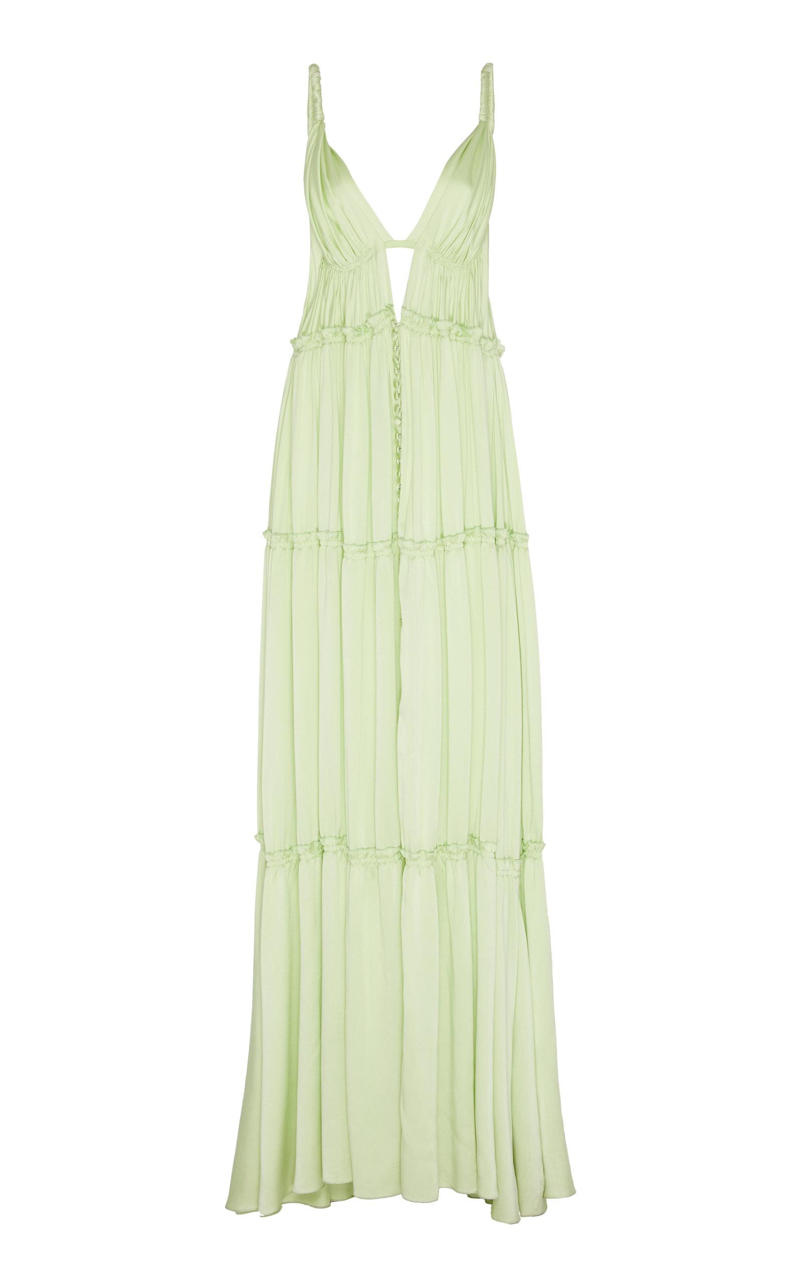 Buy Jonathan Simkhai Jade Silk Maxi Dress online, shop Jonathan Simkhai at the best price