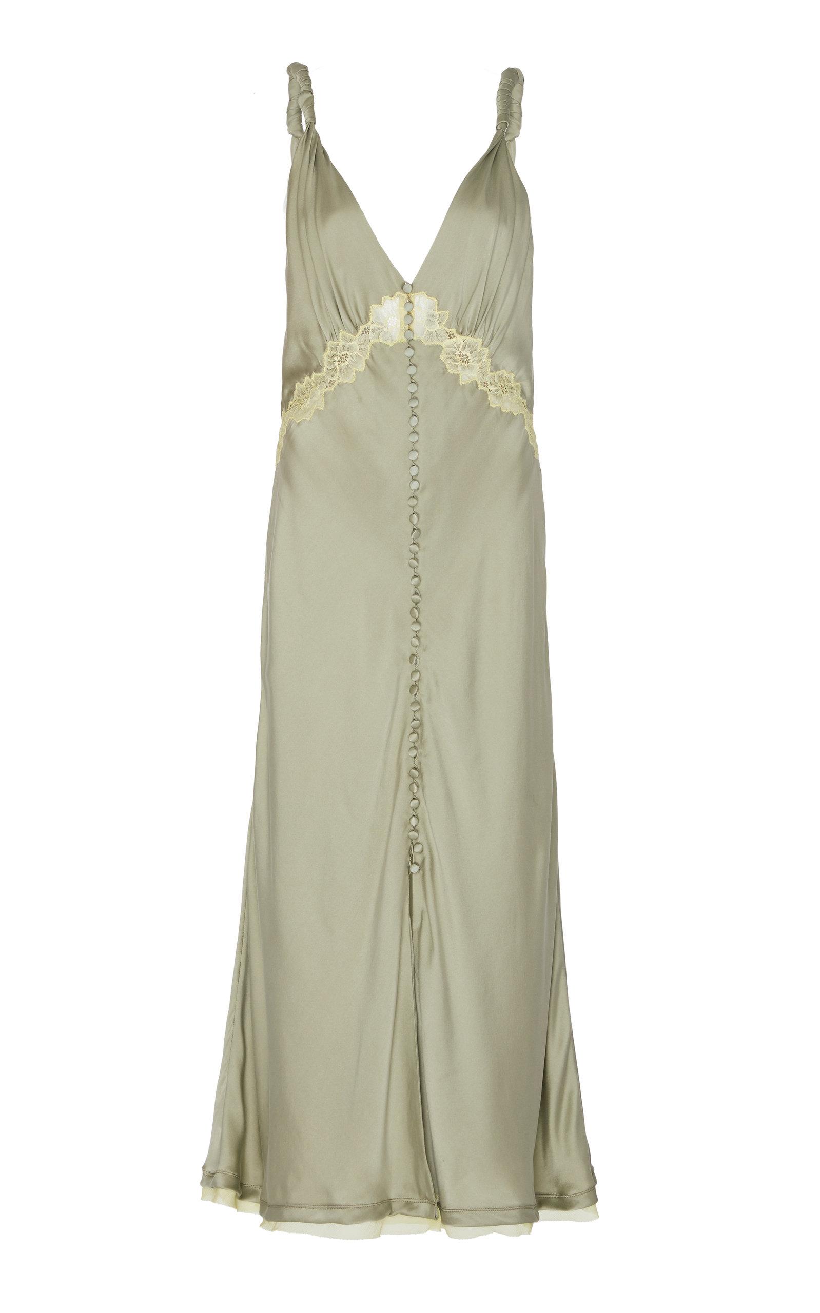 Buy Jonathan Simkhai Kendra Lace-Accented Silk Slip Dress online, shop Jonathan Simkhai at the best price