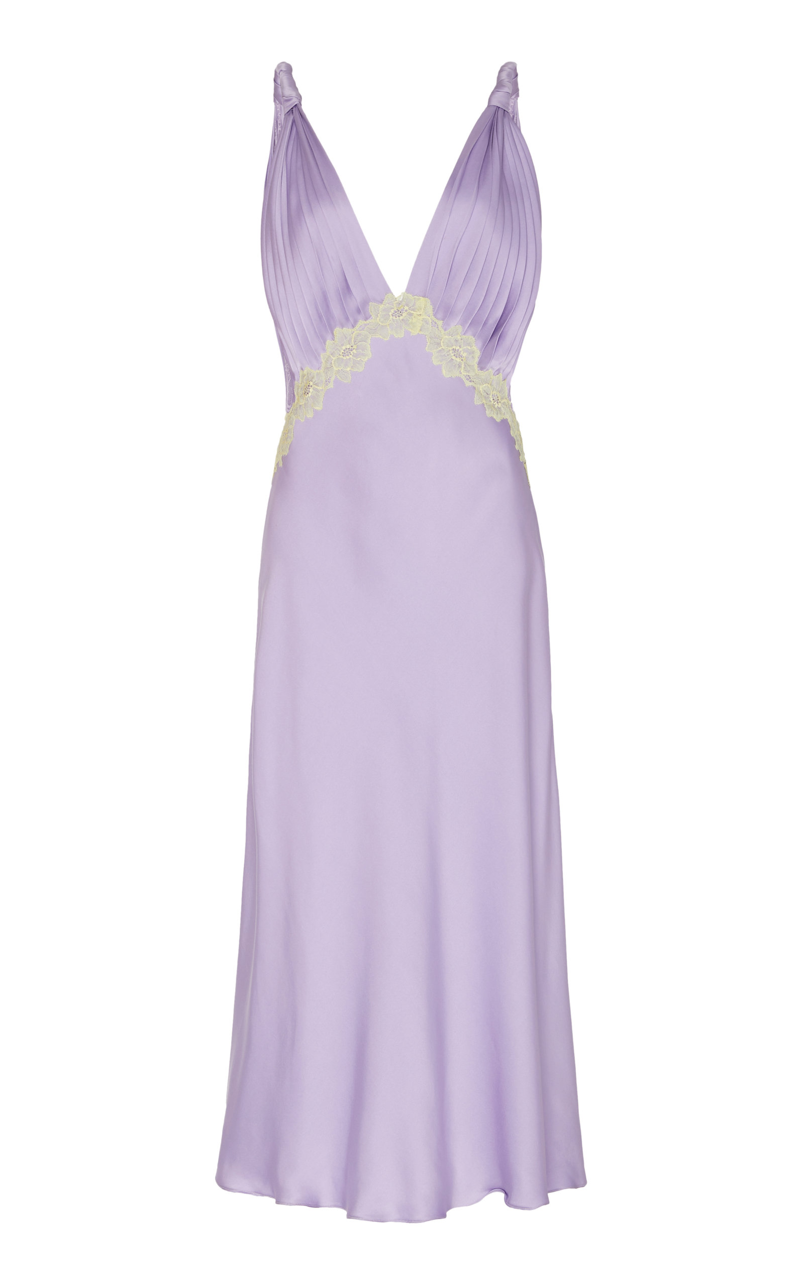 Buy Jonathan Simkhai Kiara Lace-Detailed Satin Dress online, shop Jonathan Simkhai at the best price