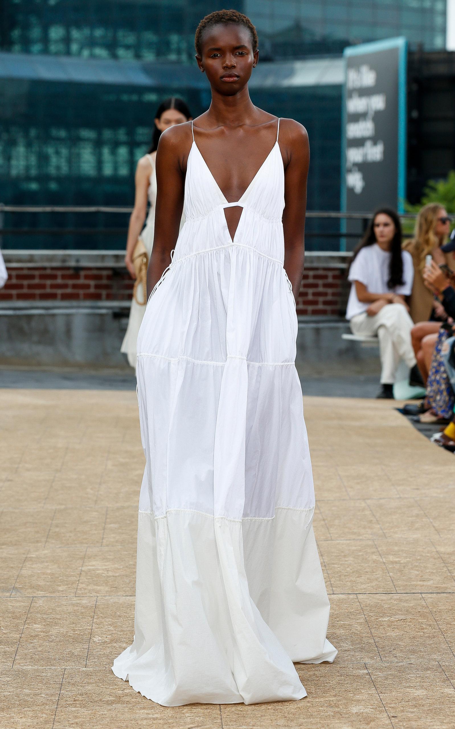 Image result for white maxi dress simkhai fashion show