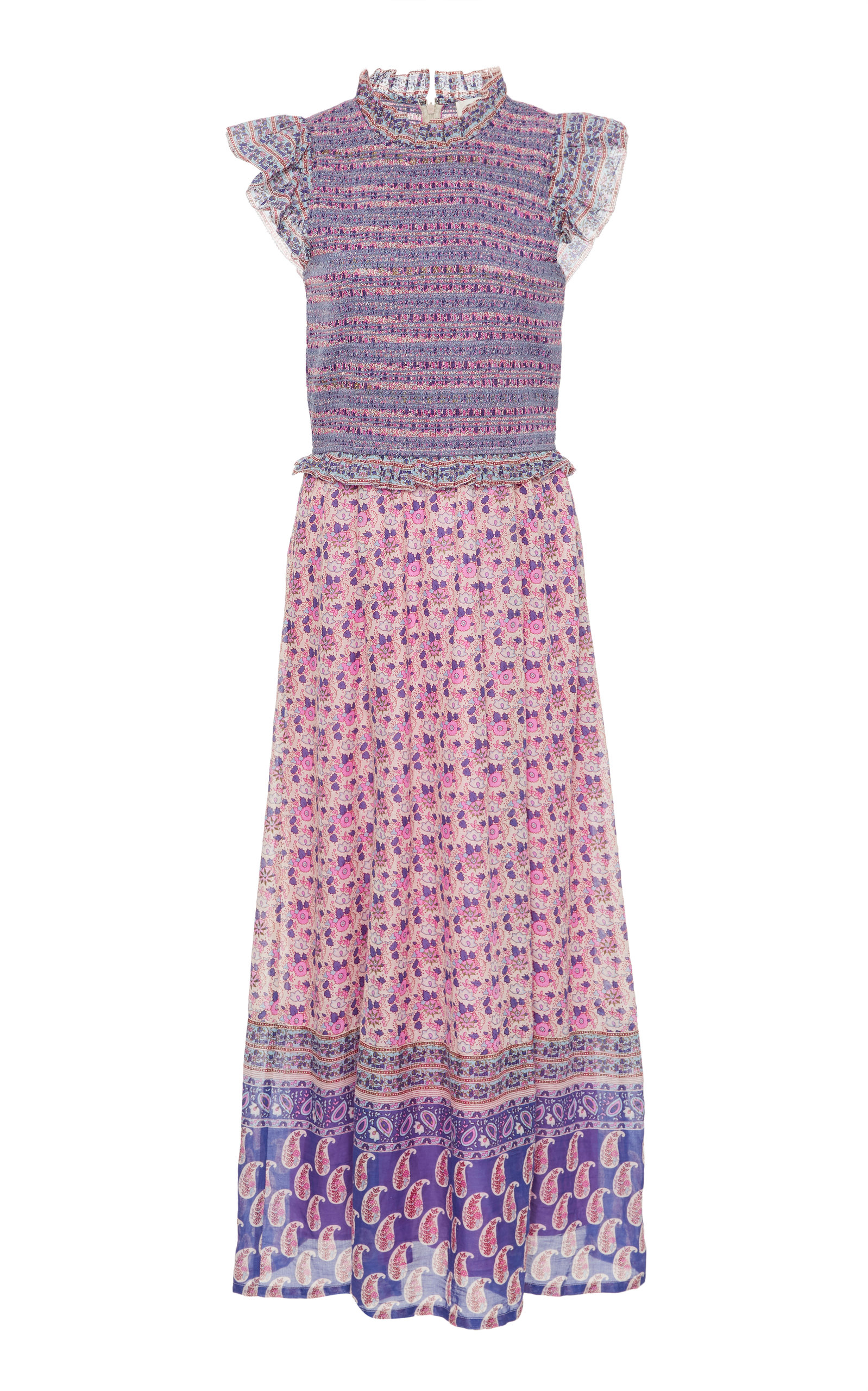 Buy Sea Bianca Smocked Floral-Print Cotton Midi Dress online, shop Sea at the best price
