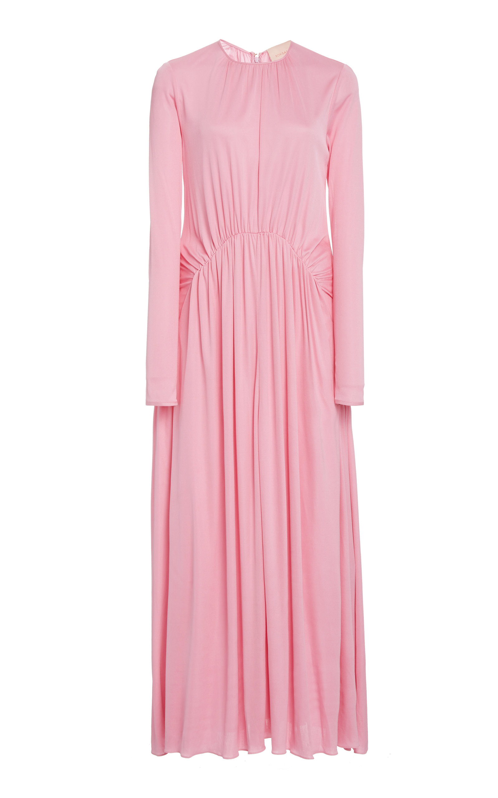 Buy ROKSANDA Nalia Ruched Crepe Maxi Dress online, shop ROKSANDA at the best price
