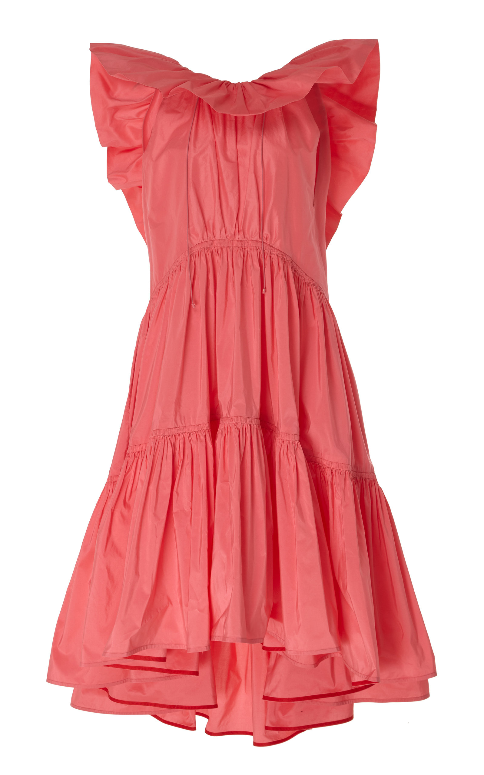 Buy ROKSANDA Alessa Ruffled Cotton-Silk Blend Midi Dress online, shop ROKSANDA at the best price