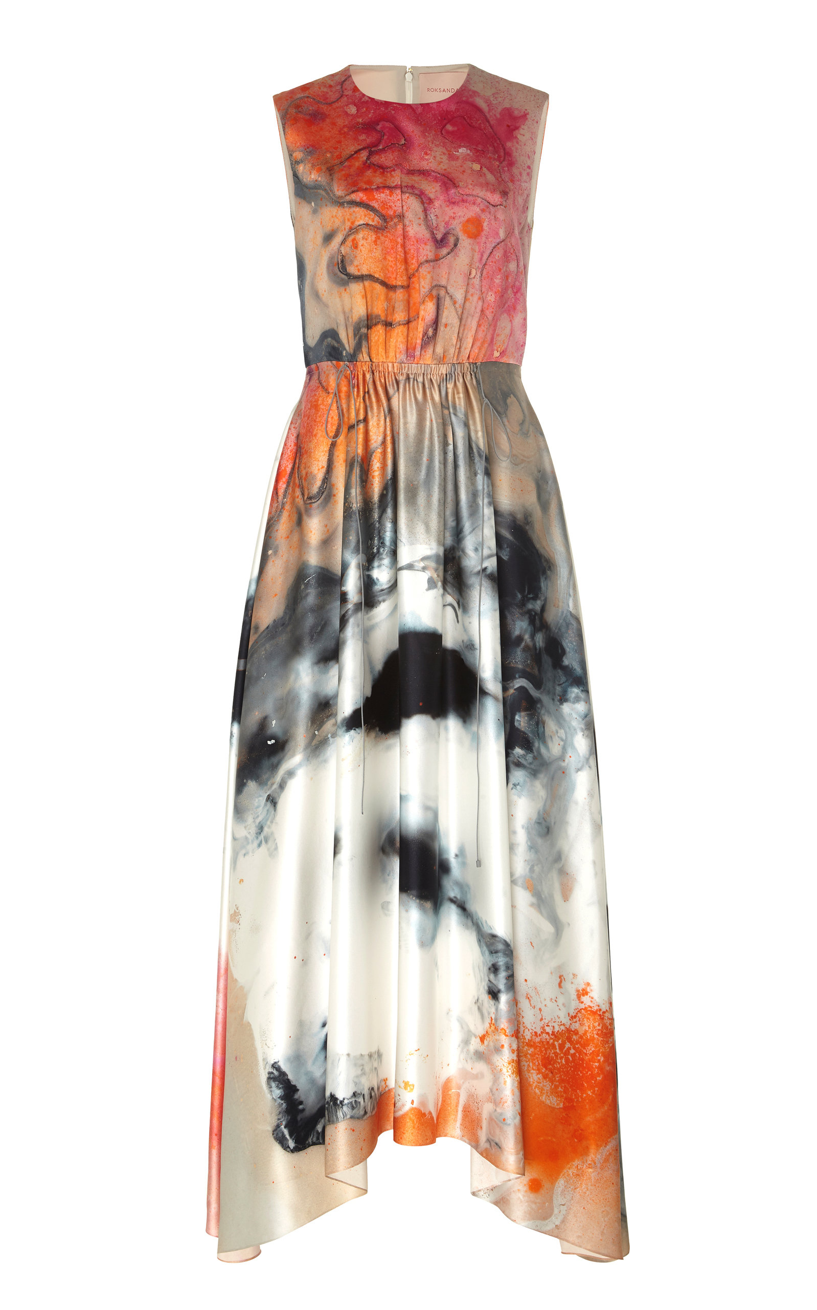 Buy ROKSANDA Nysa Printed Silk Maxi Dress online, shop ROKSANDA at the best price