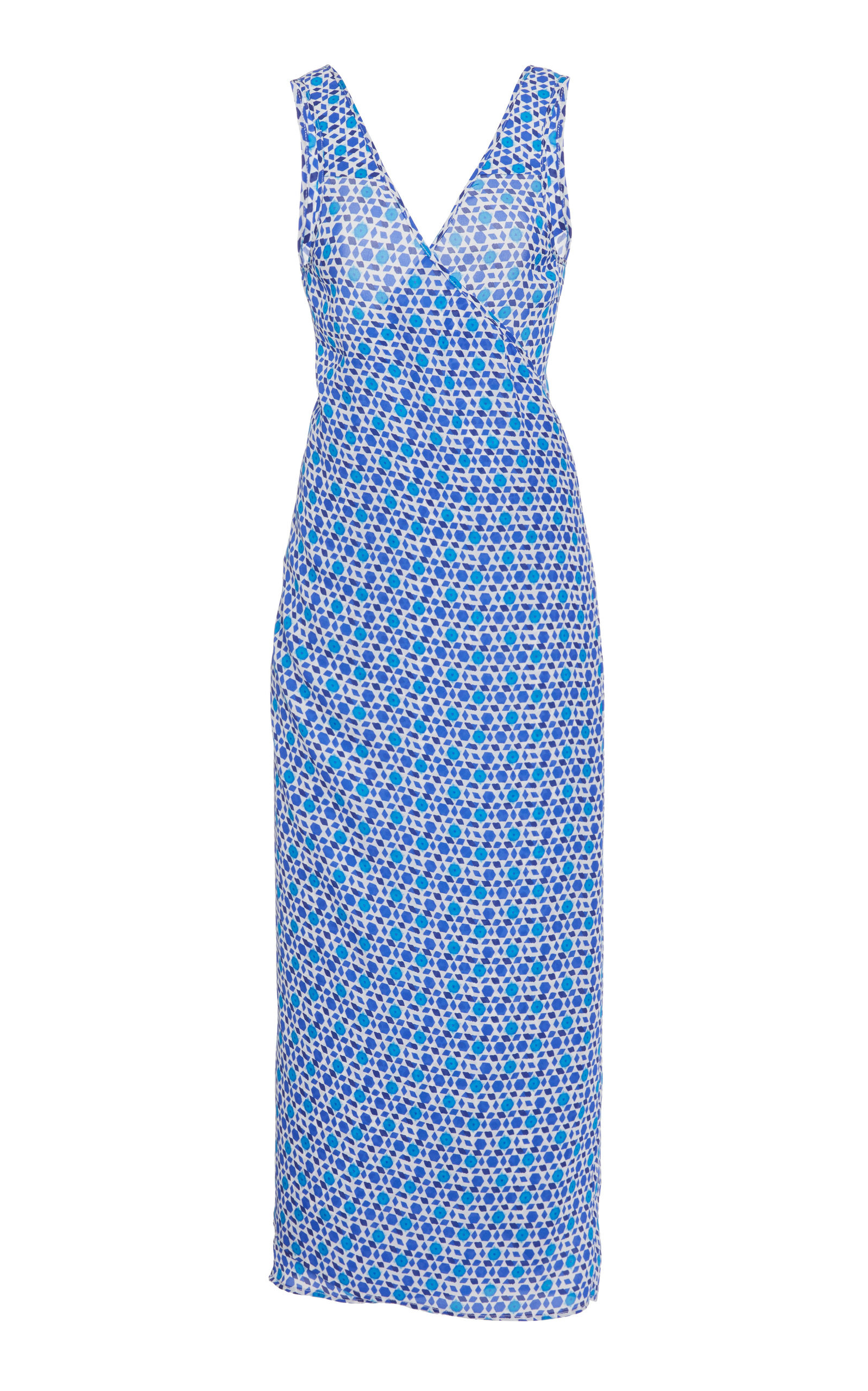 Buy Ciao Lucia Marguerita Printed Silk Midi Dress online, shop Ciao Lucia at the best price