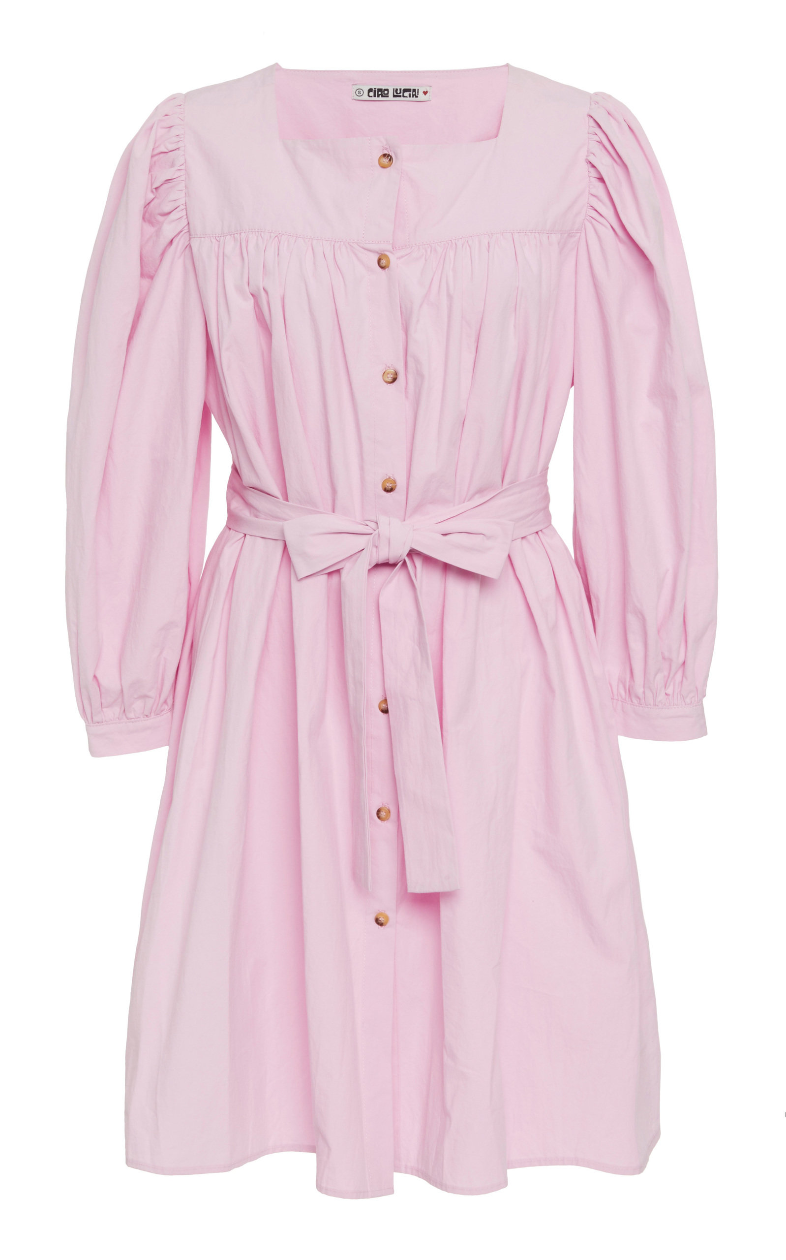Buy Ciao Lucia Fabianna Belted Cotton Shirt Dress online, shop Ciao Lucia at the best price