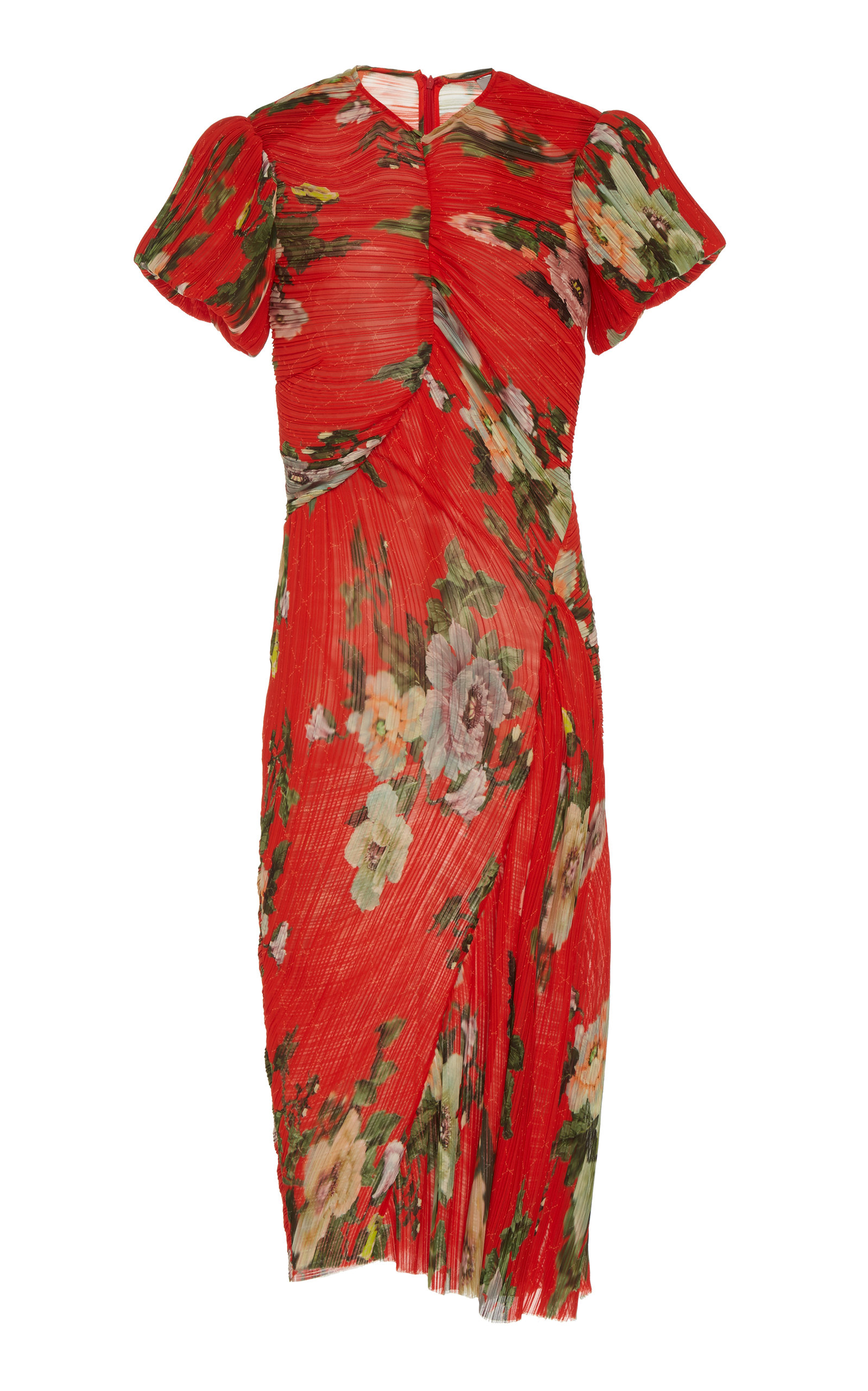 Buy Preen by Thornton Bregazzi Ruched Georgette Midi Dress online, shop Preen by Thornton Bregazzi at the best price