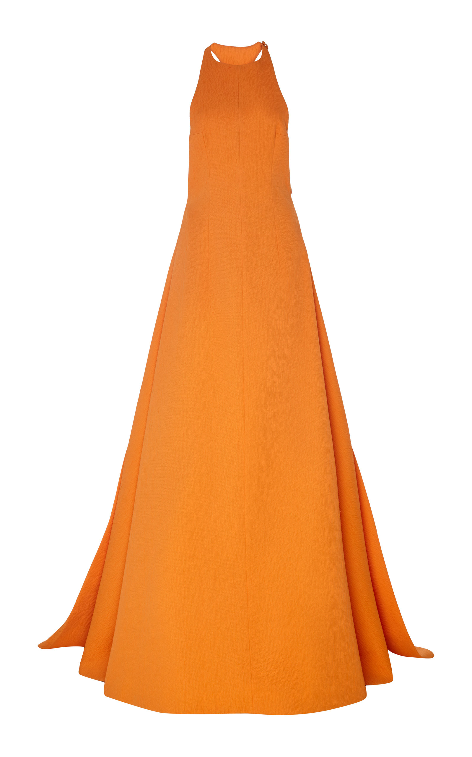 Buy Emilia Wickstead Sleeveless Crepe Halter Gown online, shop Emilia Wickstead at the best price