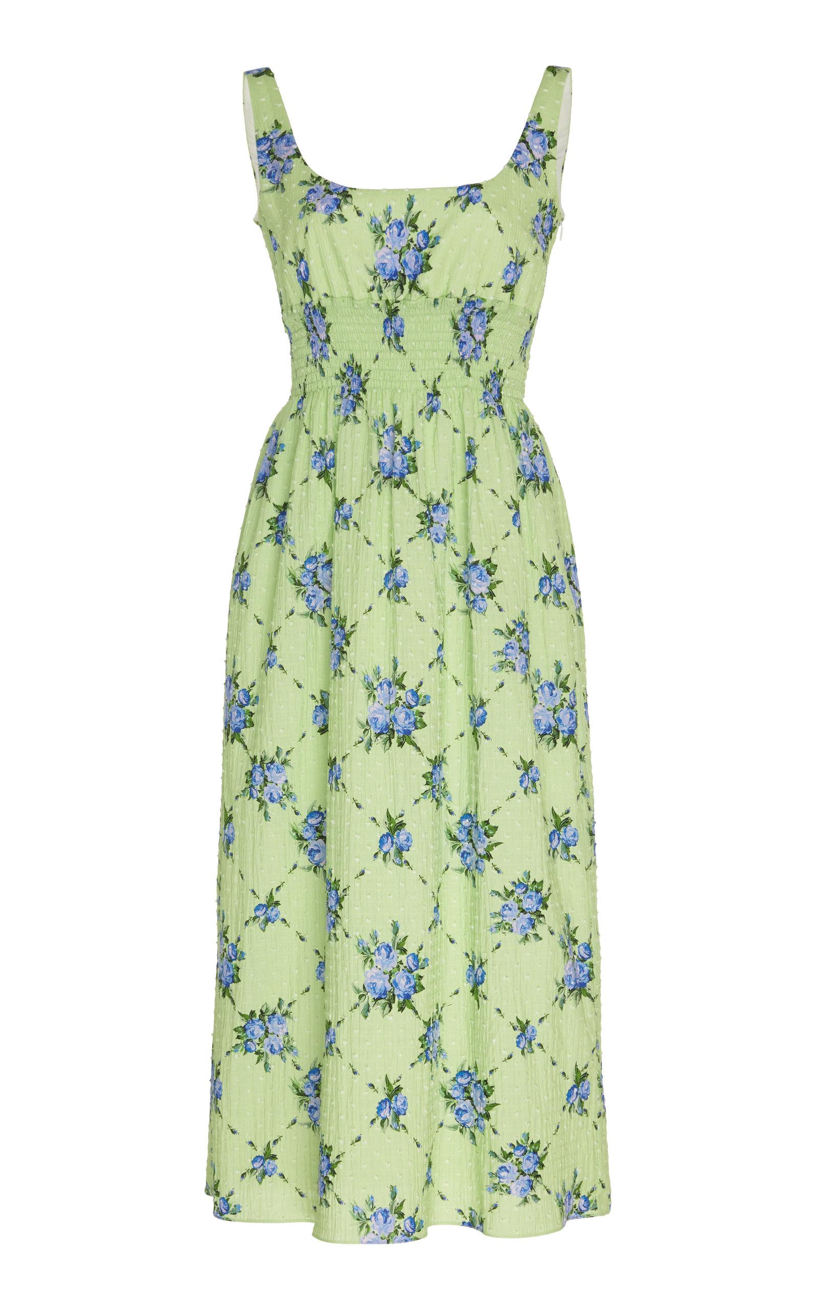 Buy Emilia Wickstead Floral-Print Cotton-Blend Dress online, shop Emilia Wickstead at the best price