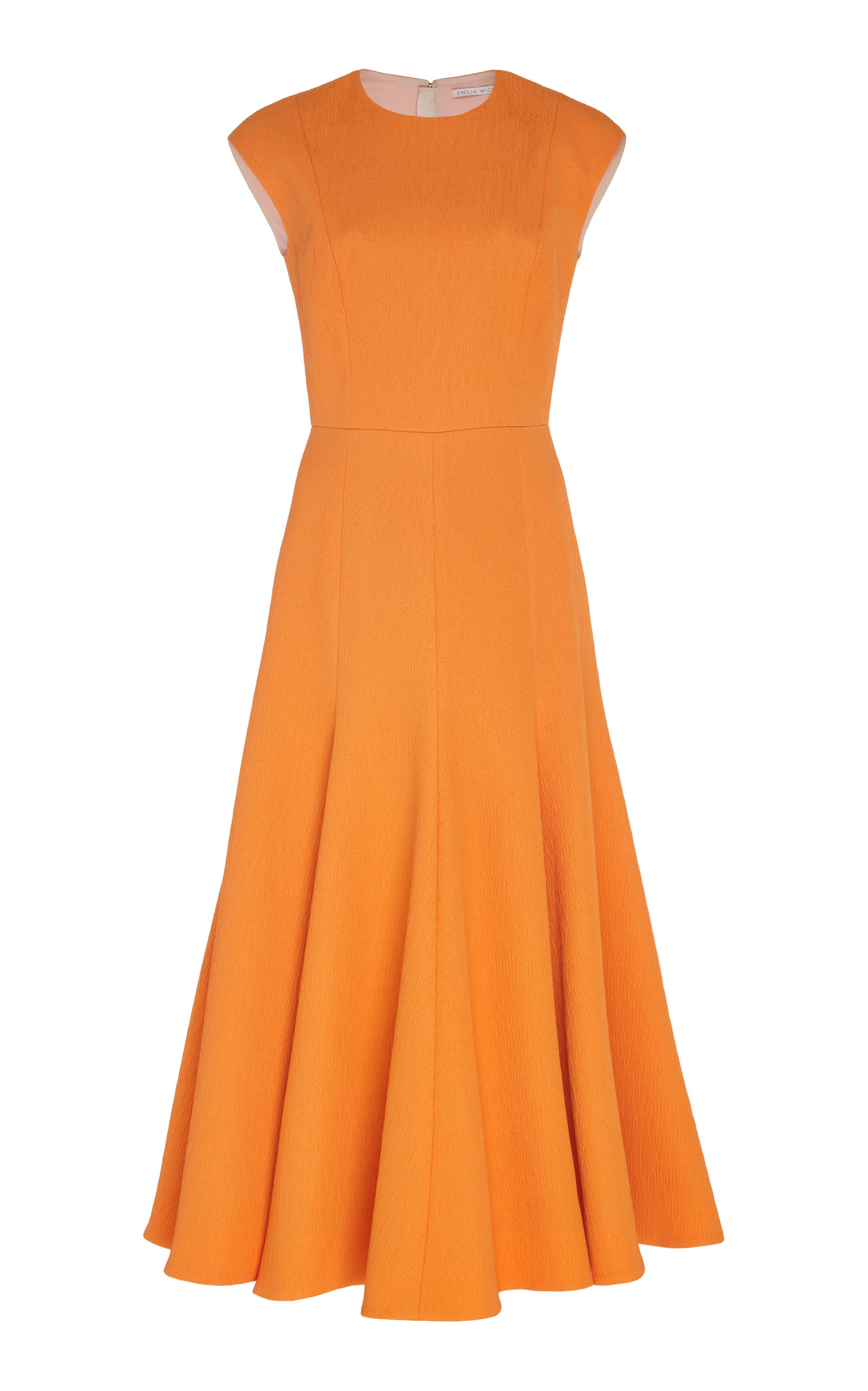 Buy Emilia Wickstead Pleated Crepe Dress online, shop Emilia Wickstead at the best price