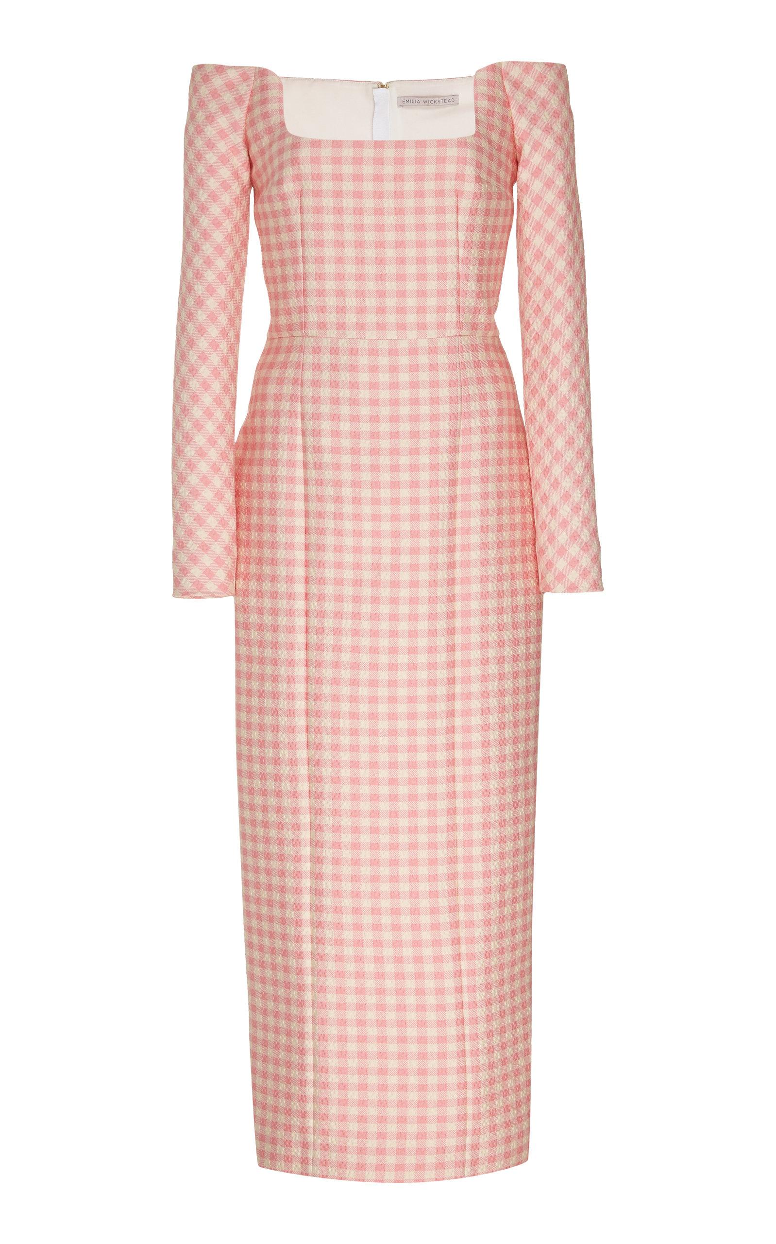 Buy Emilia Wickstead Off-The-Shoulder Gingham Dress online, shop Emilia Wickstead at the best price