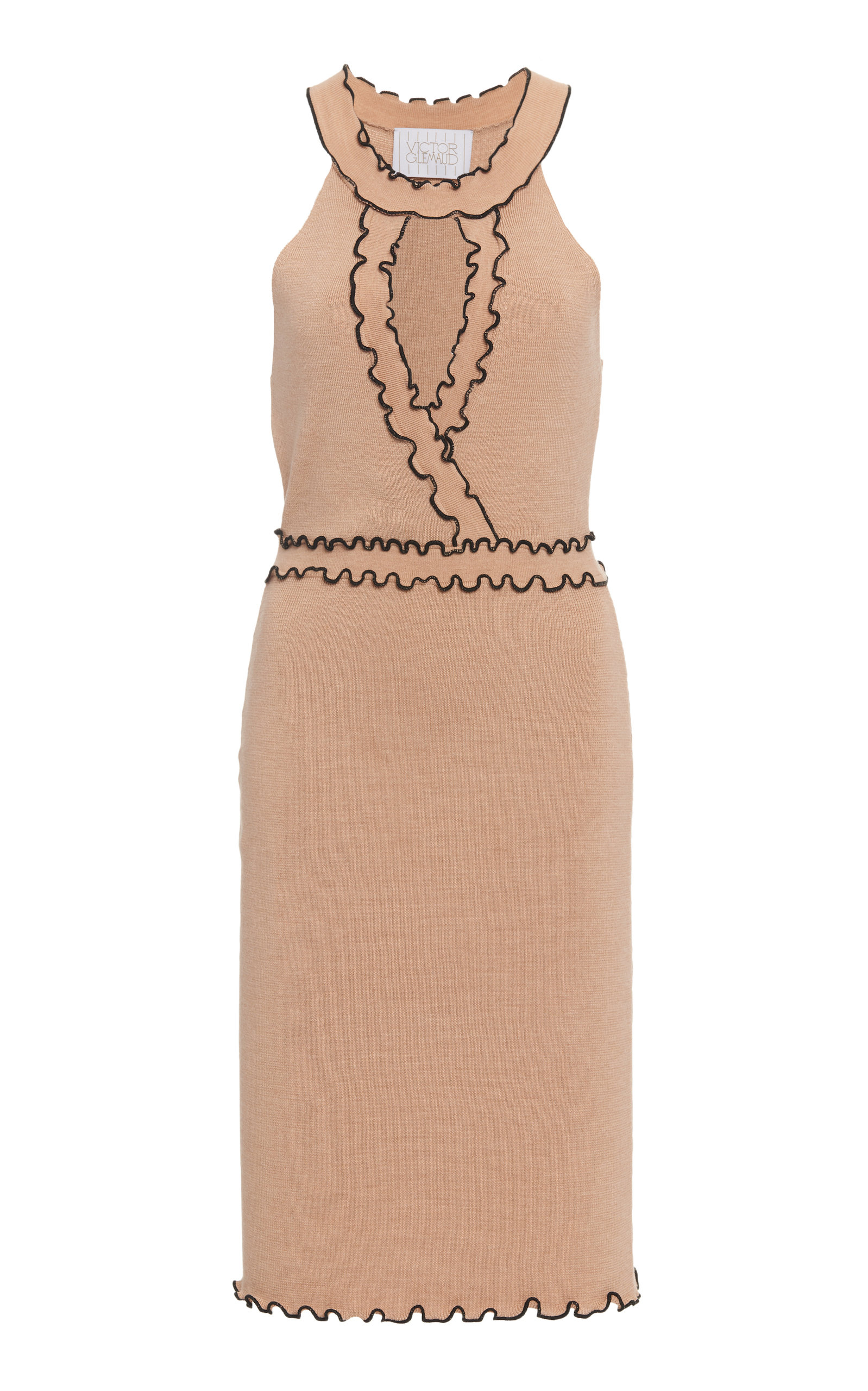 Buy Victor Glemaud Two-Tone Merino Wool Dress online, shop Victor Glemaud at the best price