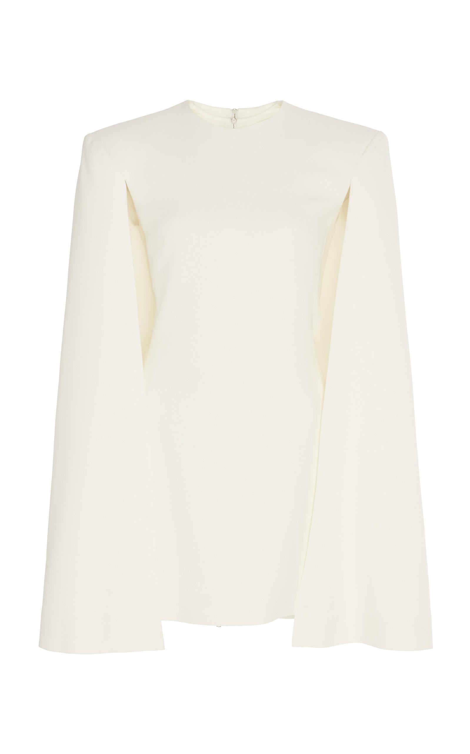 Buy David Koma Cape-Effect Crepe Dress online, shop David Koma at the best price