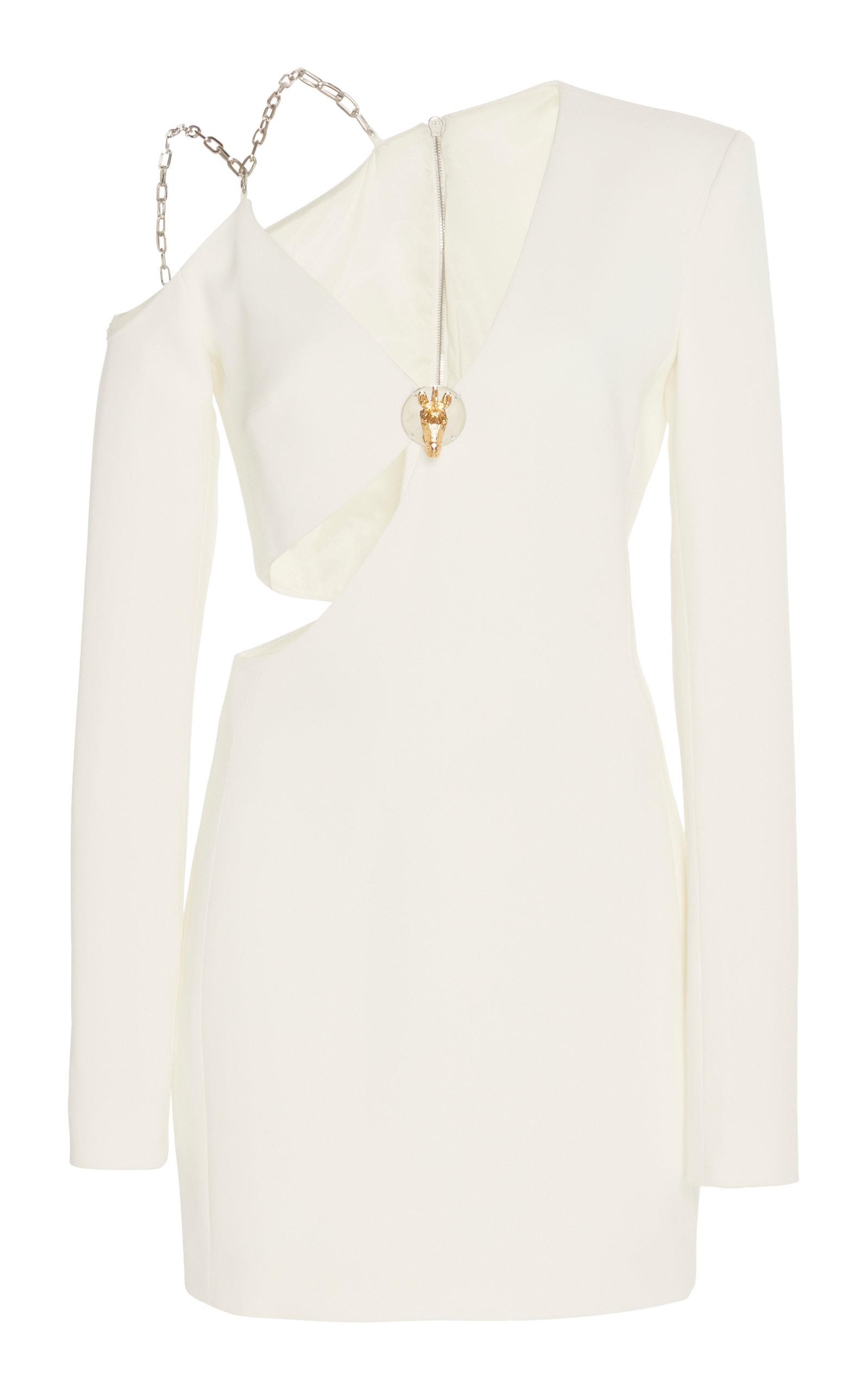 Buy David Koma Asymmetric Cold-Shoulder Crepe Dress online, shop David Koma at the best price