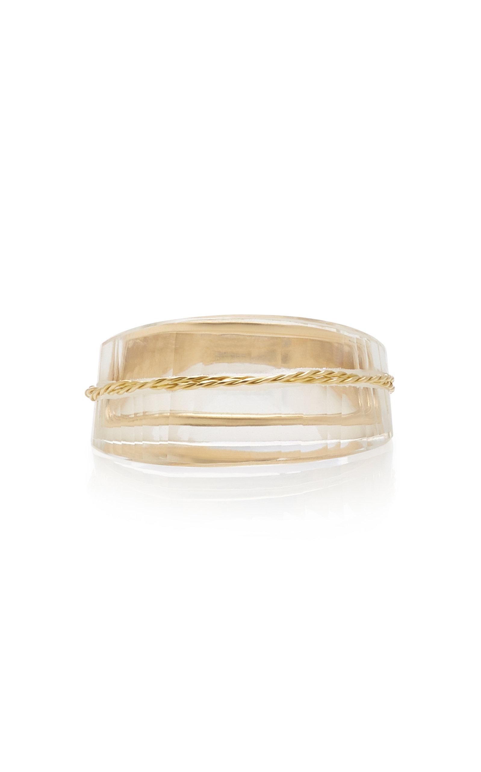 Women's Facetas 18K Gold and Quartz Ring