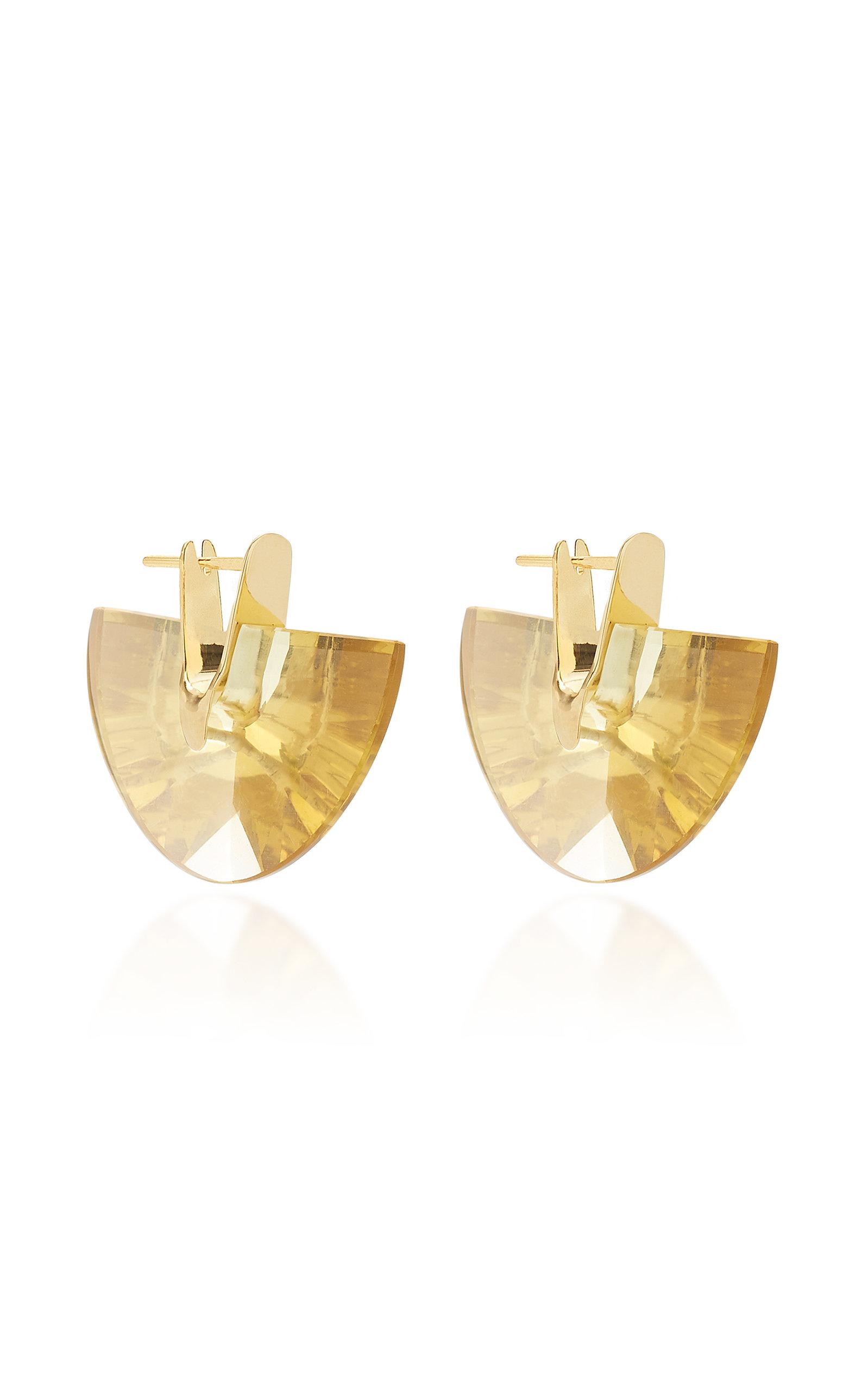Women's Wama Ihem 18K Gold And Quartz Earrings