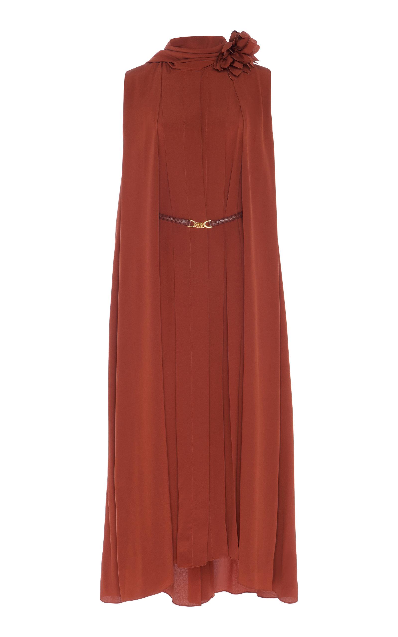 Buy Victoria Beckham Scarf-Detail Silk-Chiffon Midi Dress online, shop Victoria Beckham at the best price