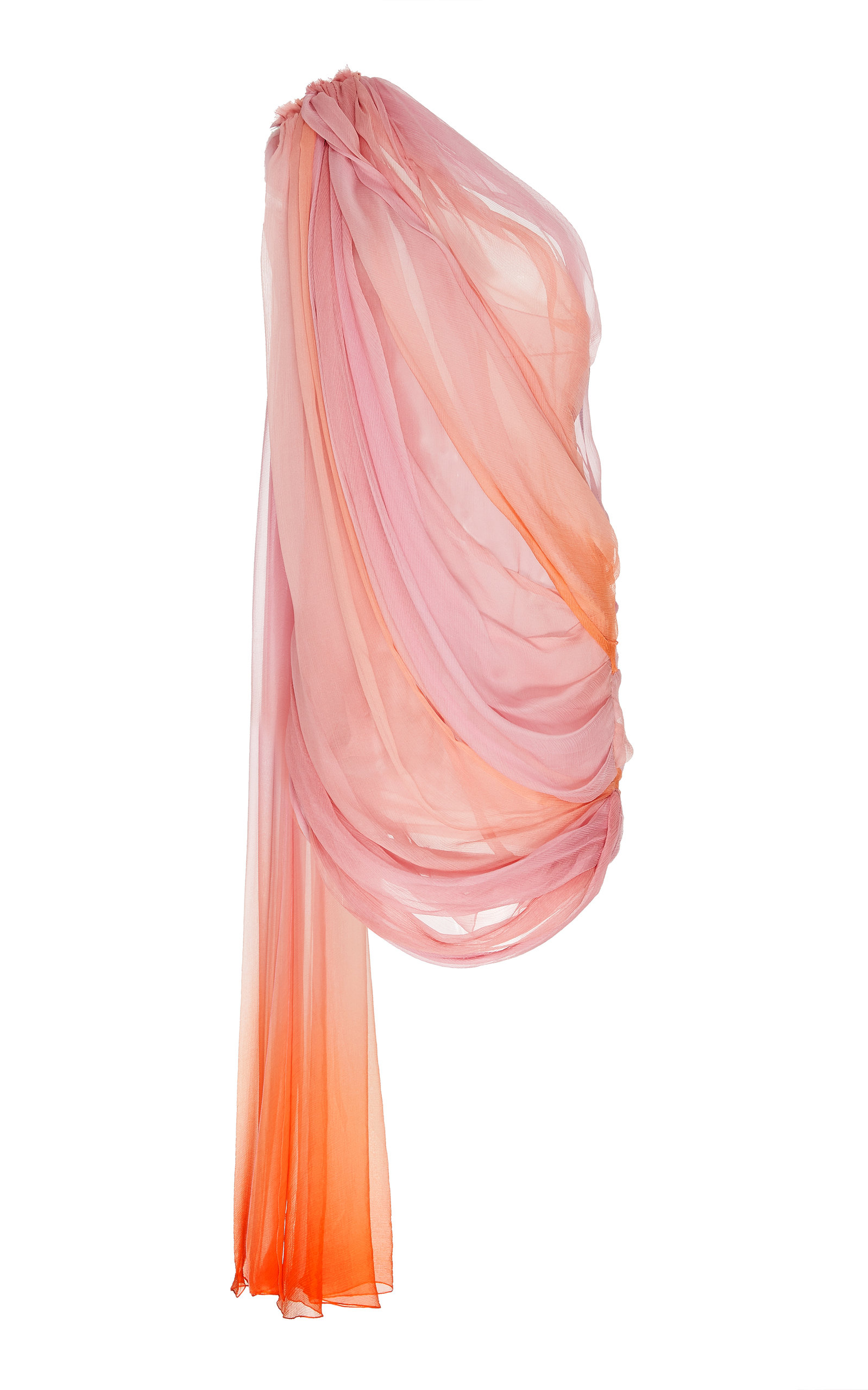 Buy Oscar de la Renta Ombré Silk-Chiffon Dress online, shop Oscar de la Renta at the best price