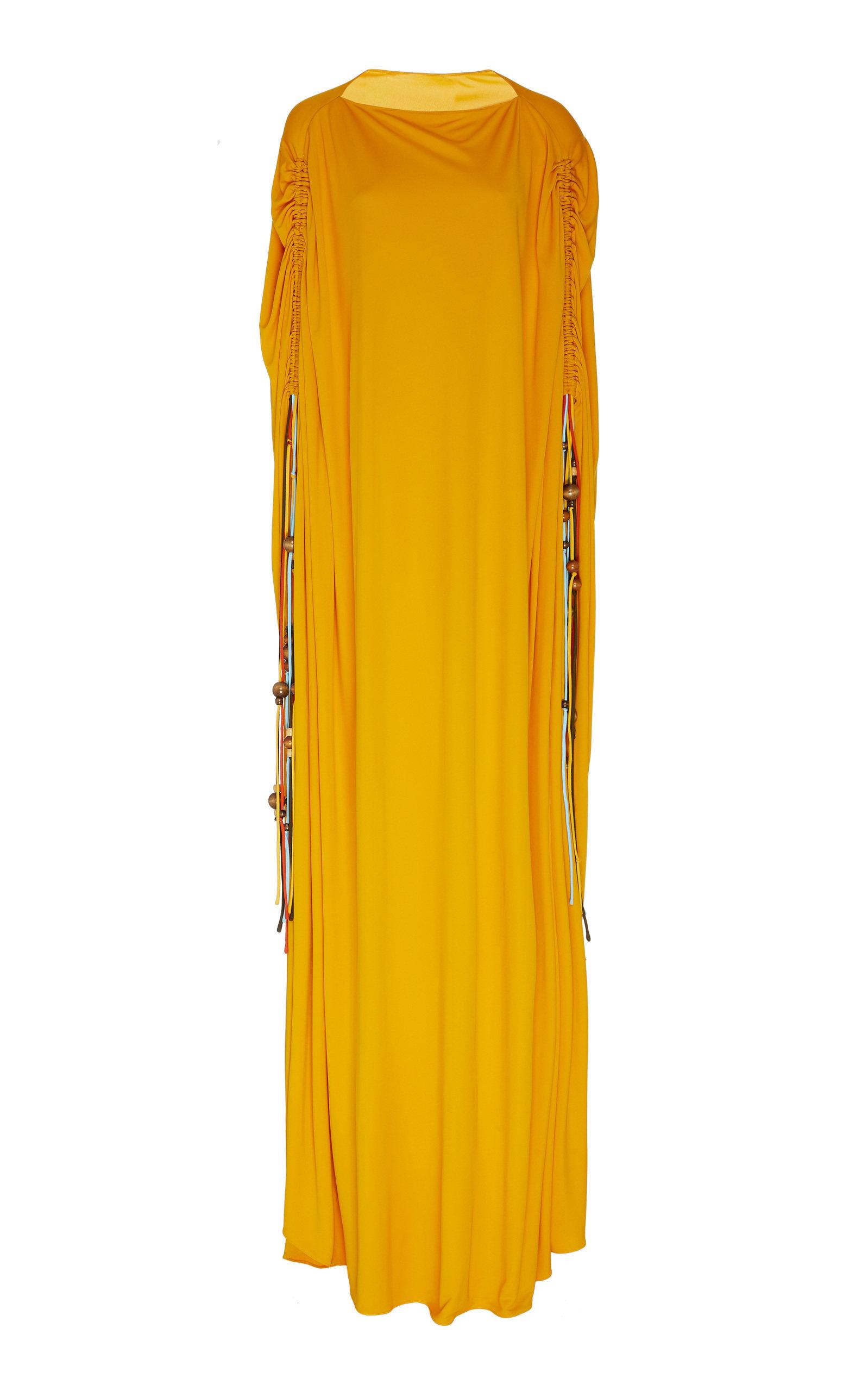 Buy Oscar de la Renta Draped Georgette Caftan online, shop Oscar de la Renta at the best price