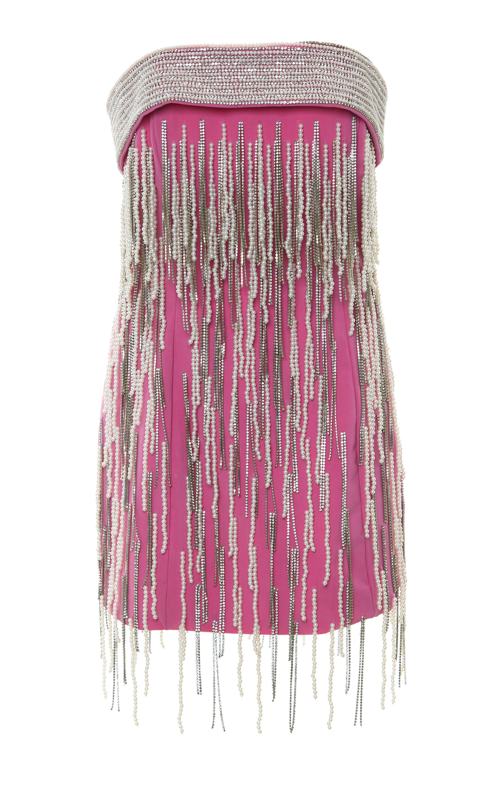 Buy The Attico Strapless Embellished Wool-Blend Mini Dress online, shop The Attico at the best price