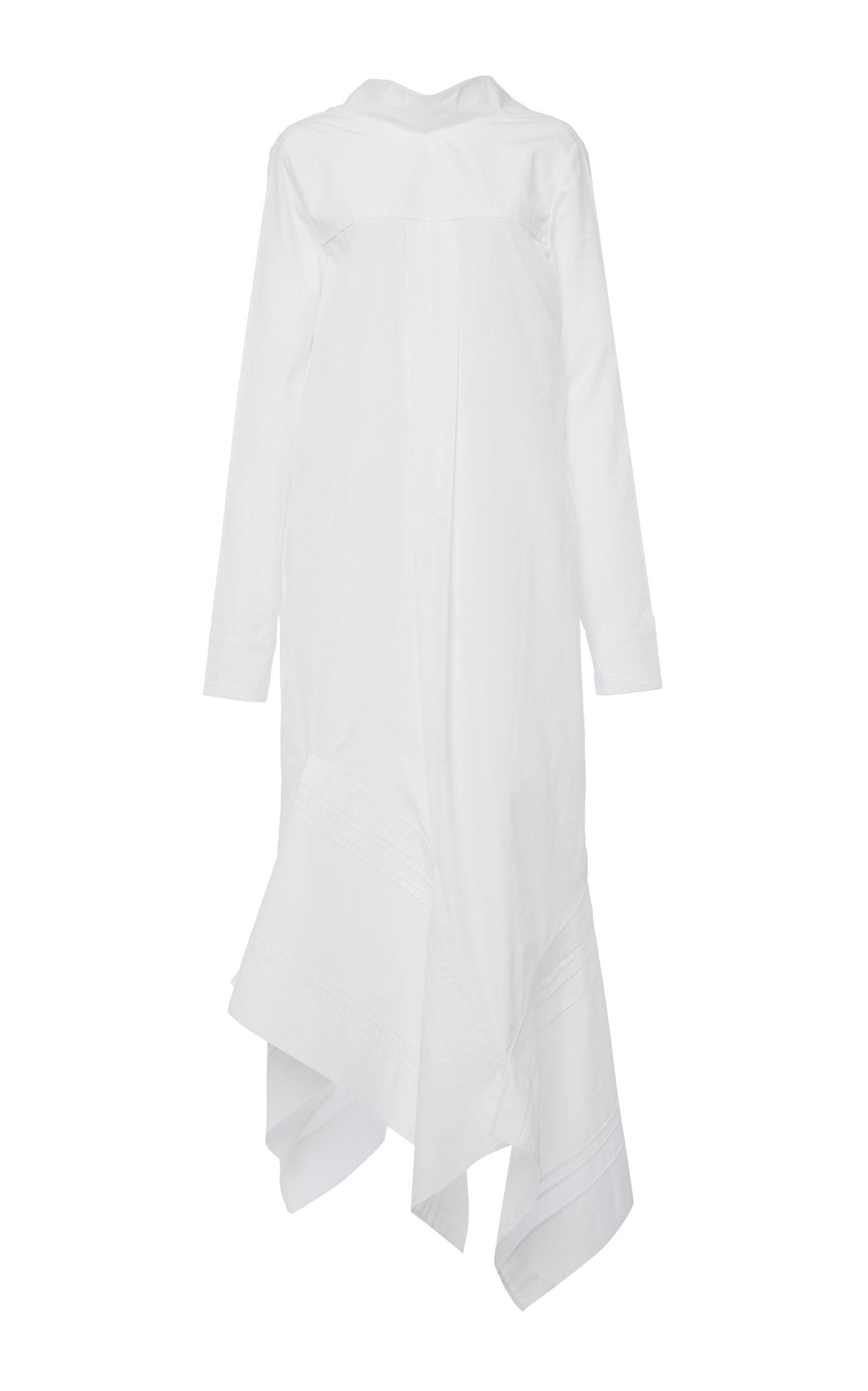 Buy Jil Sander Miranda Asymmetric Cotton Dress online, shop Jil Sander at the best price