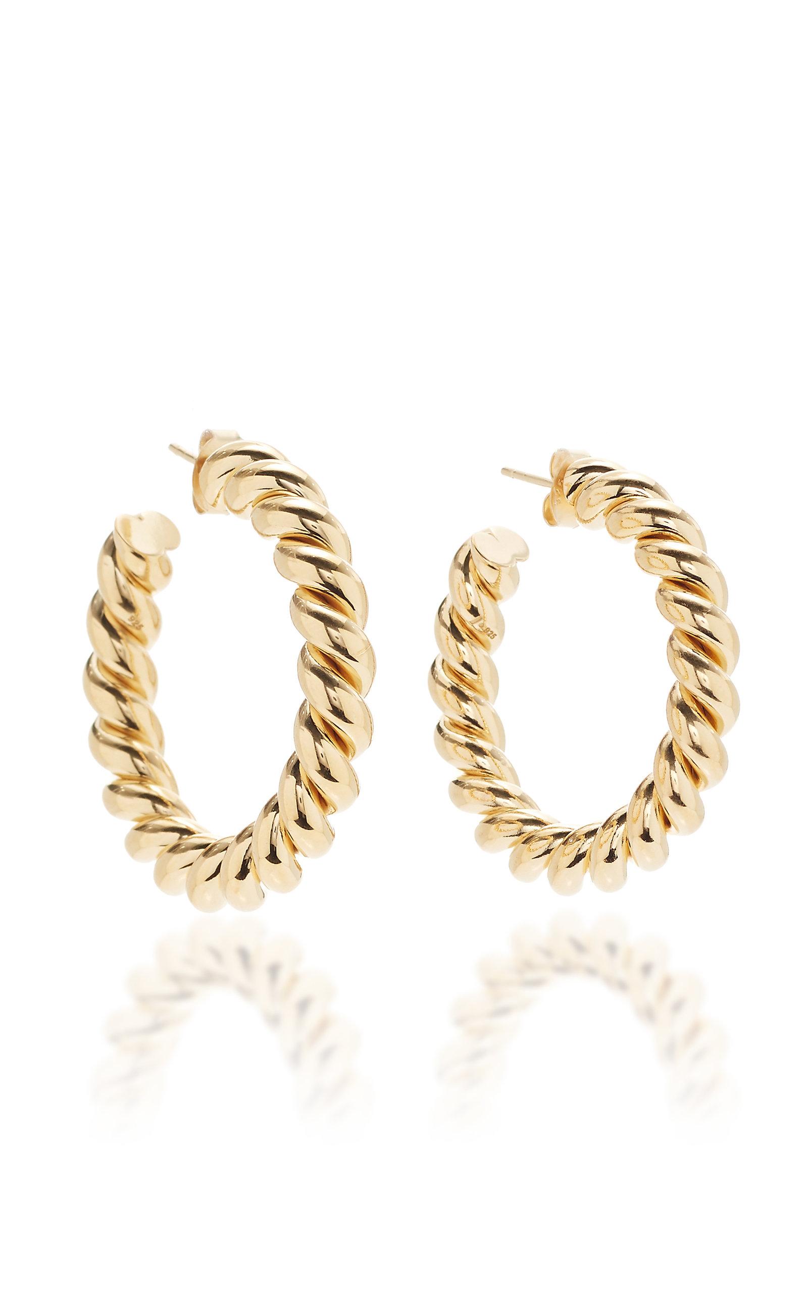 Women's Small Gold-Plated Hoop Earrings